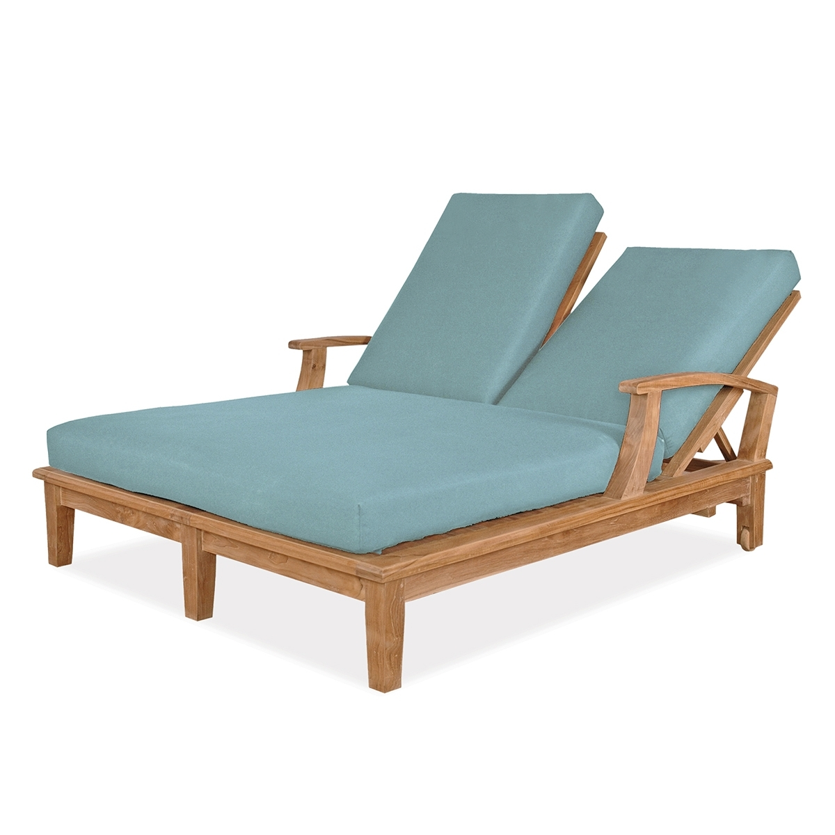 Teak Chaises Intended For Most Up To Date Double Chaise Lounge (View 3 of 15)