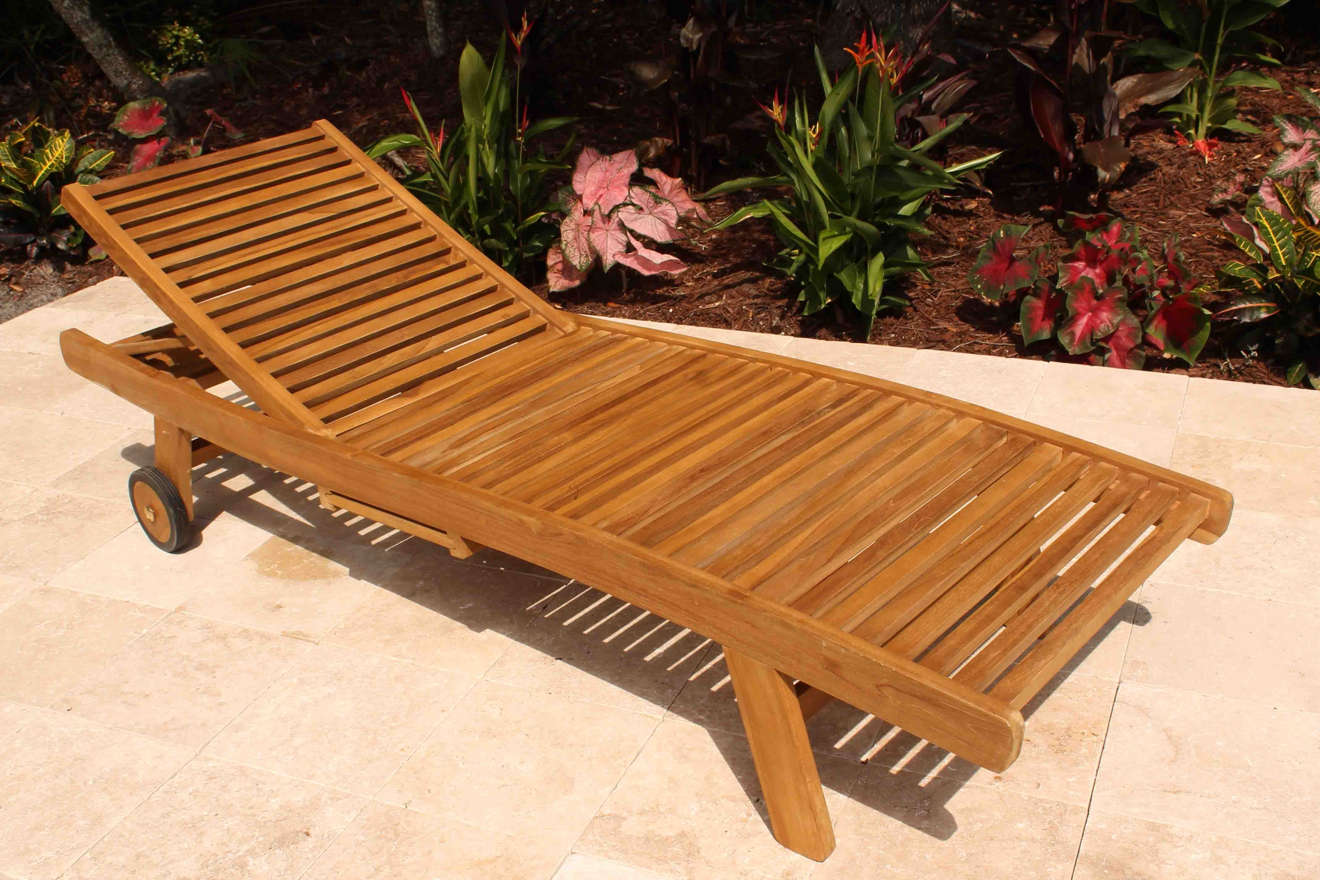 Teak Wood Chaise Lounge Chair — Teak Furnitures : Teak Chaise Throughout Fashionable Wooden Chaise Lounges (View 10 of 15)