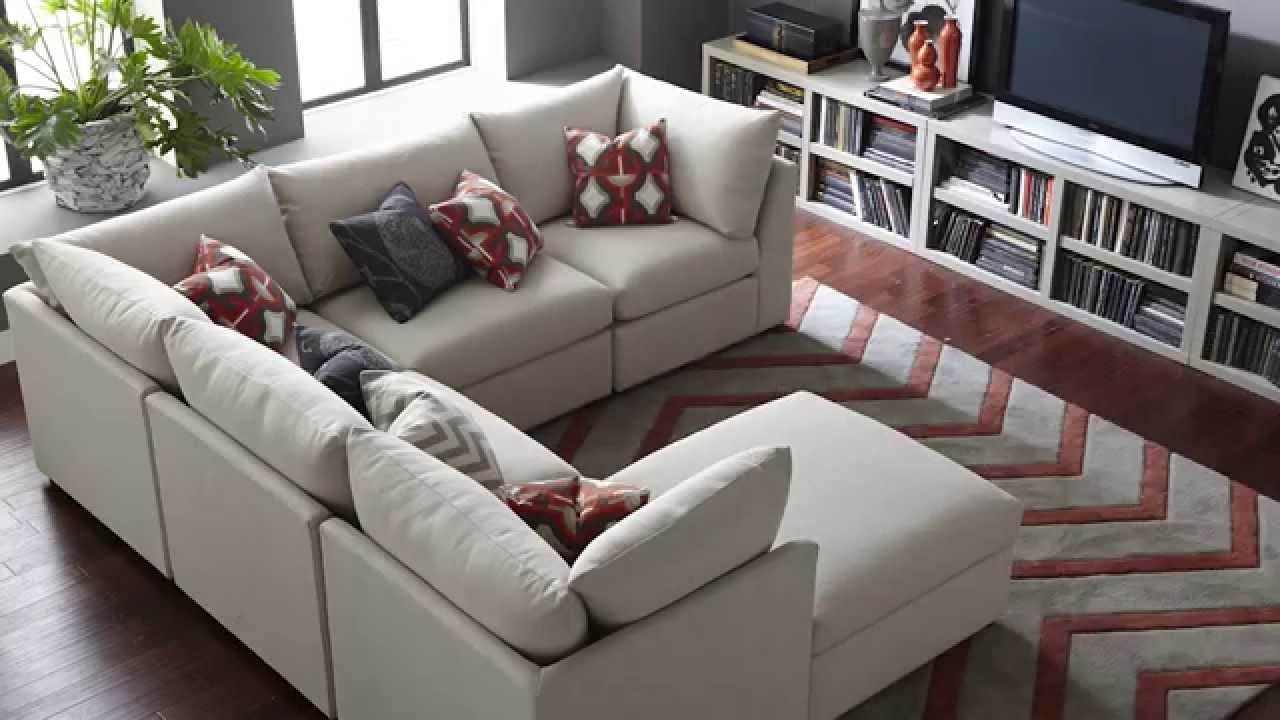 The Beckham Sectional Sofabassett Furniture – Youtube Inside Widely Used Modular Sectional Sofas (View 4 of 15)