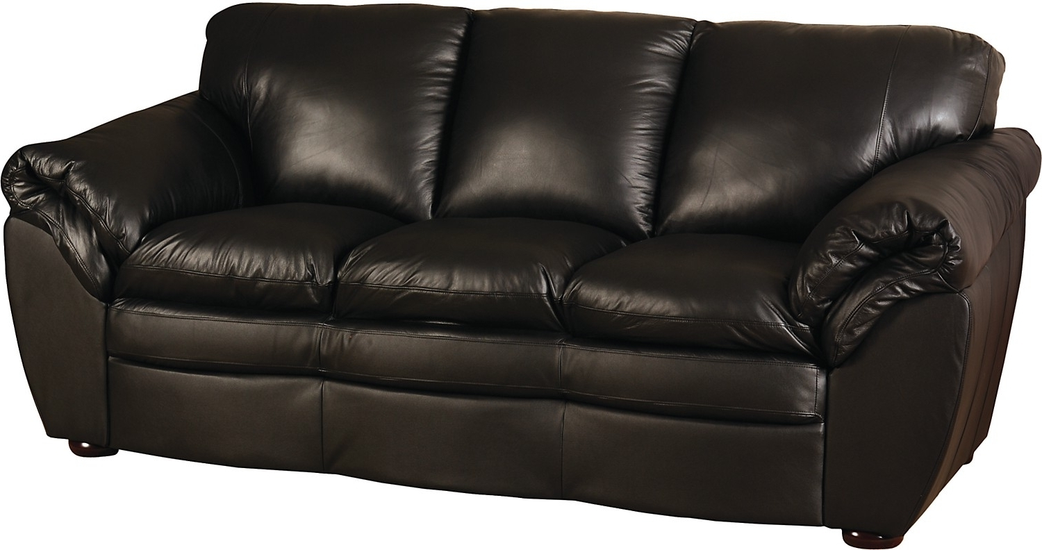 The Brick Leather Sofas Intended For Latest Awesome Simple Black Leather Couch Photos – Liltigertoo (View 14 of 15)