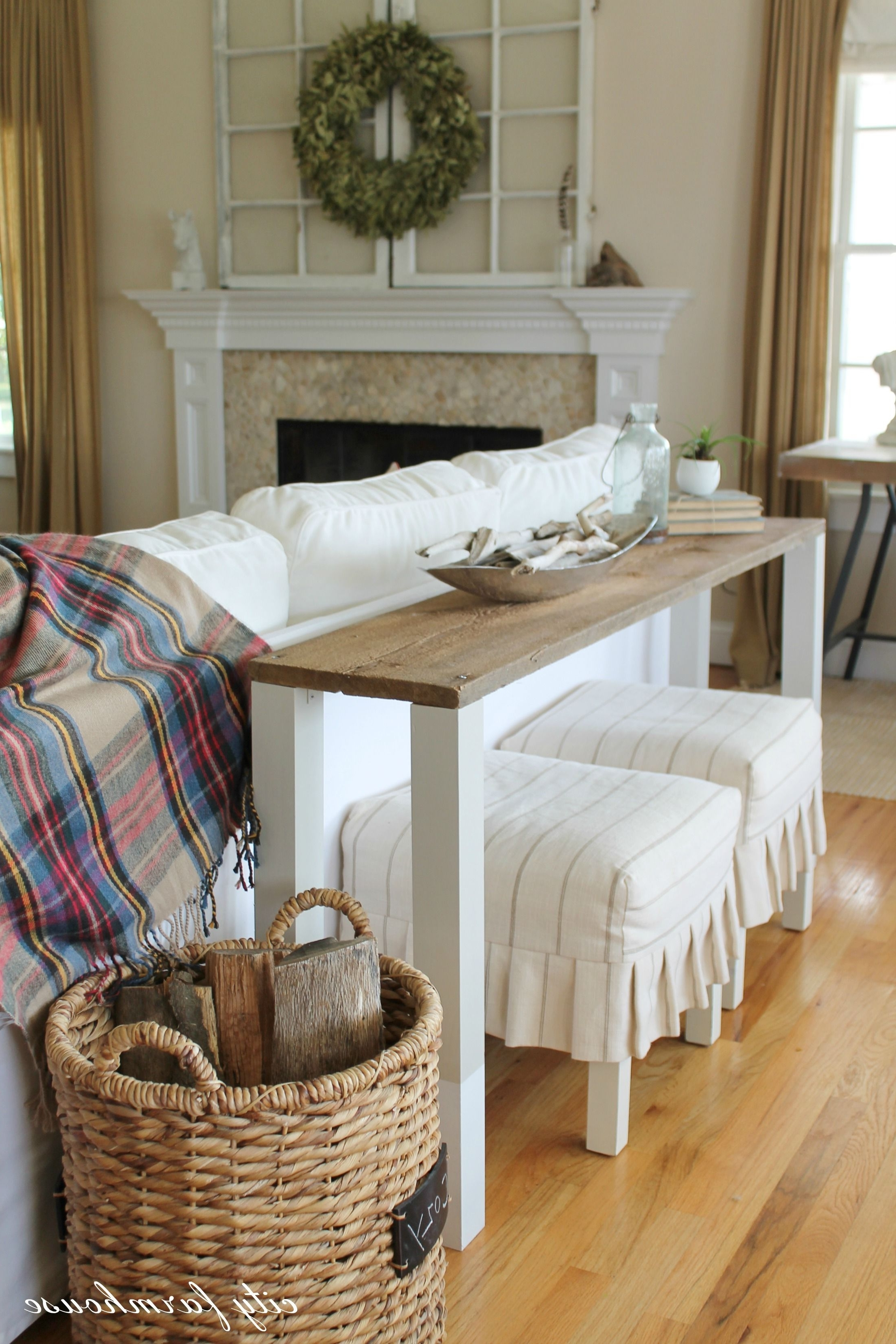 The Easiest Diy Reclaimed Wood Sofa Table (View 14 of 15)