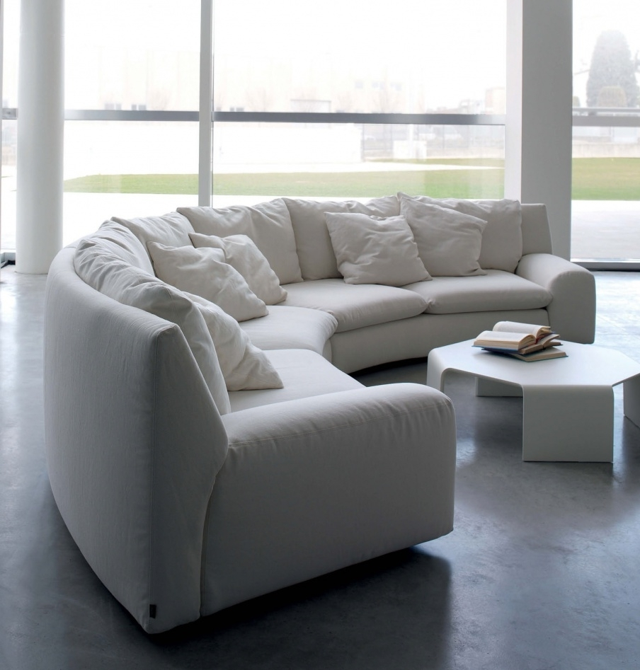 The Semicircular Sofa In Fabric Ben Ben, Arflex – Luxury Furniture Mr Within Trendy Semicircular Sofas (View 13 of 15)