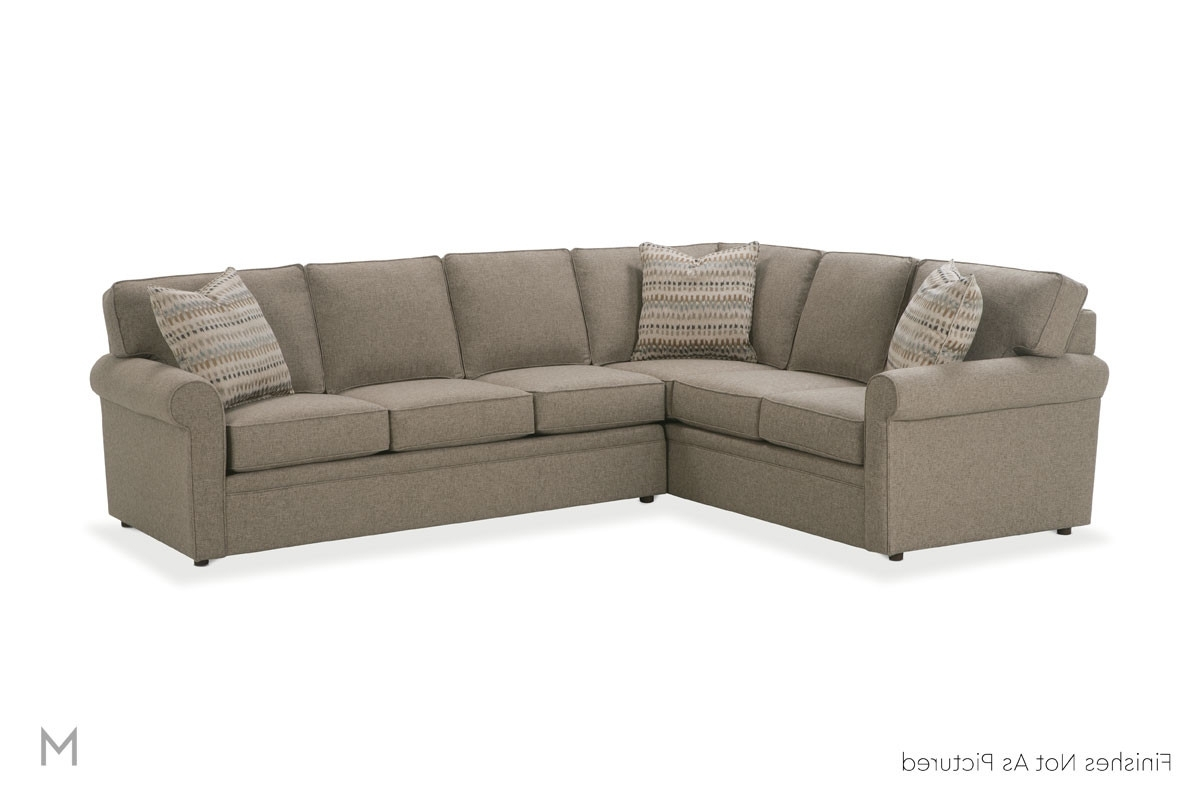 Thornton Sectional With Angled Chaise In Midnight Blue In Popular Angled Chaise Sofas (View 14 of 15)