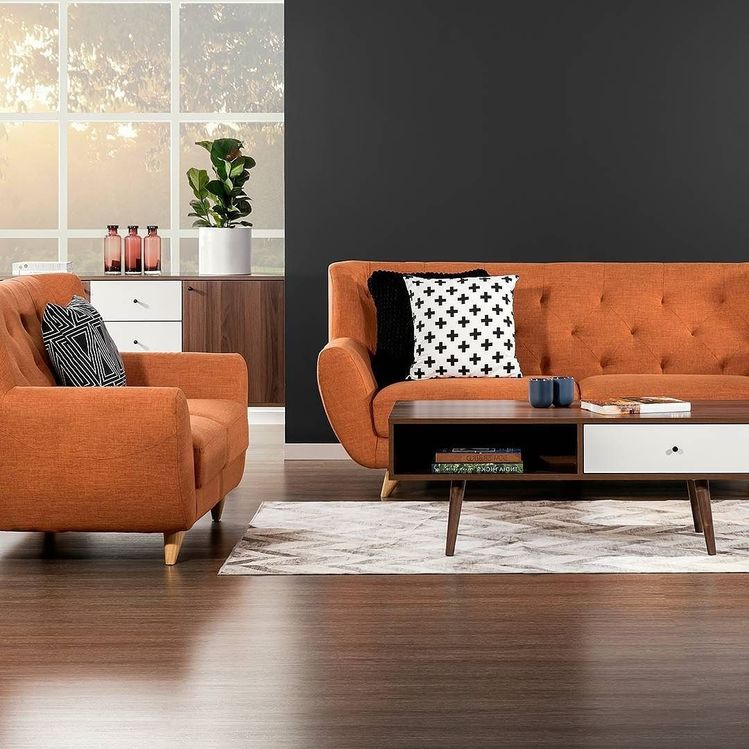 Those Chairs! Our New 'juniper' Sofa Chairs In Orange (View 9 of 15)