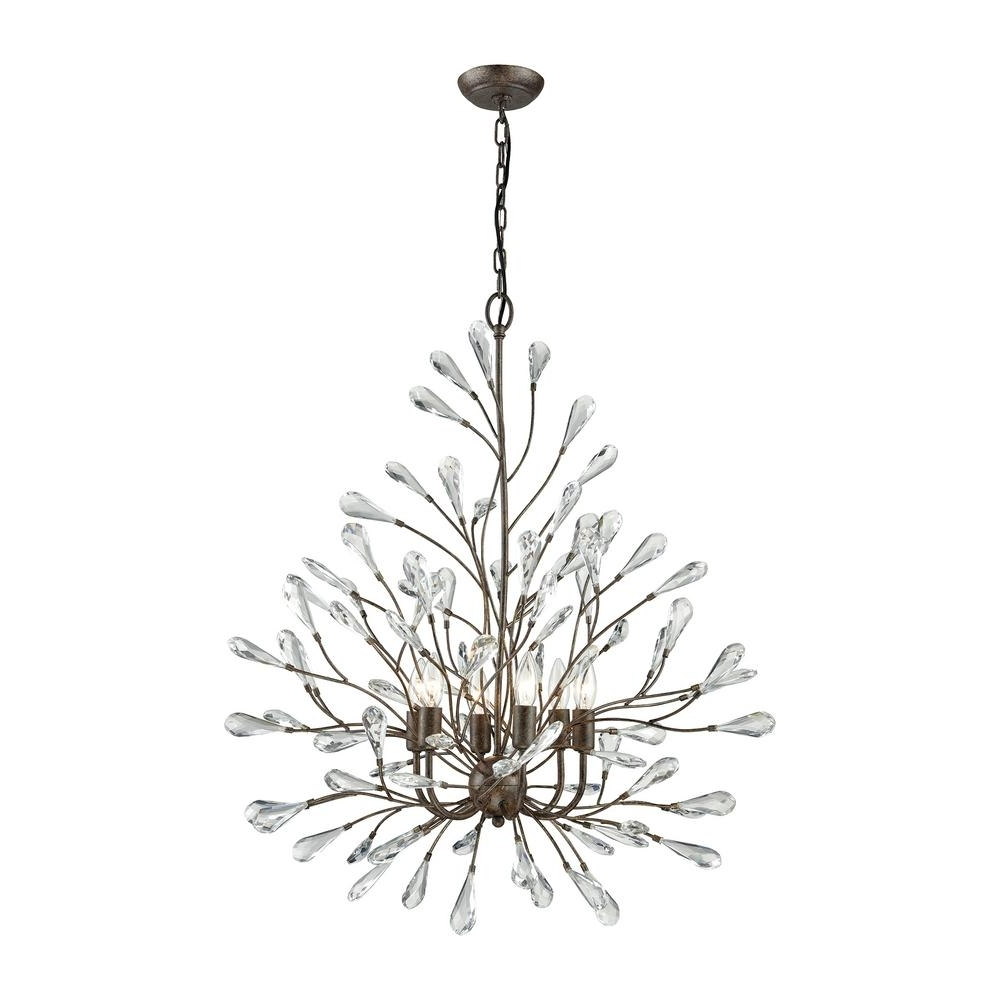 Titan Lighting Lexicon 8 Light Long Matte Gold With Clear Crystal Pertaining To Newest Branch Crystal Chandelier (View 15 of 15)