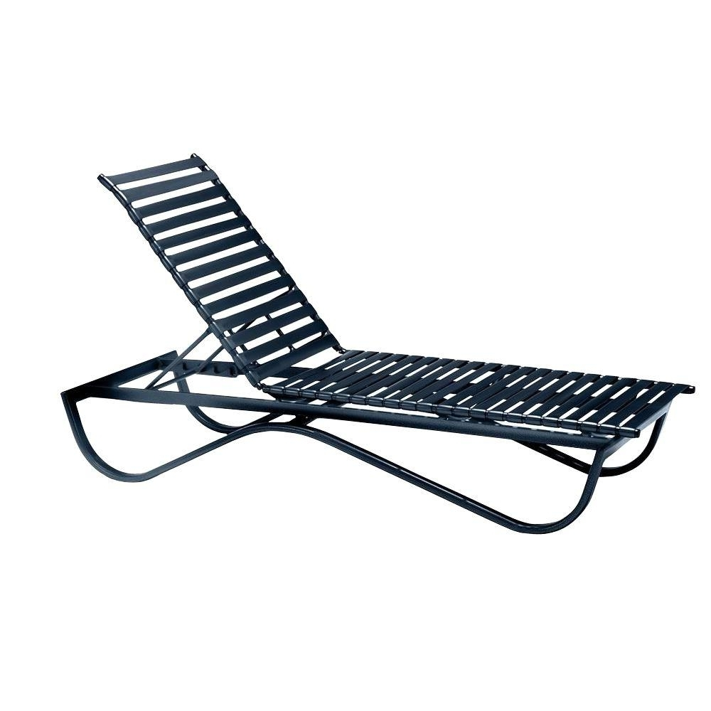 Tradewinds Scandia Black Commercial Strap Stackable Patio Chaise Within Well Liked Commercial Outdoor Chaise Lounge Chairs (View 12 of 15)