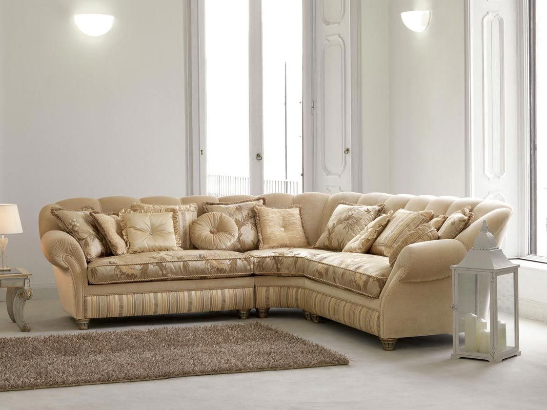 Traditional Fabric Sofas Regarding Trendy Corner Sofa / Traditional / Fabric / 5 Seater – Teseo – Pigoli (View 15 of 15)