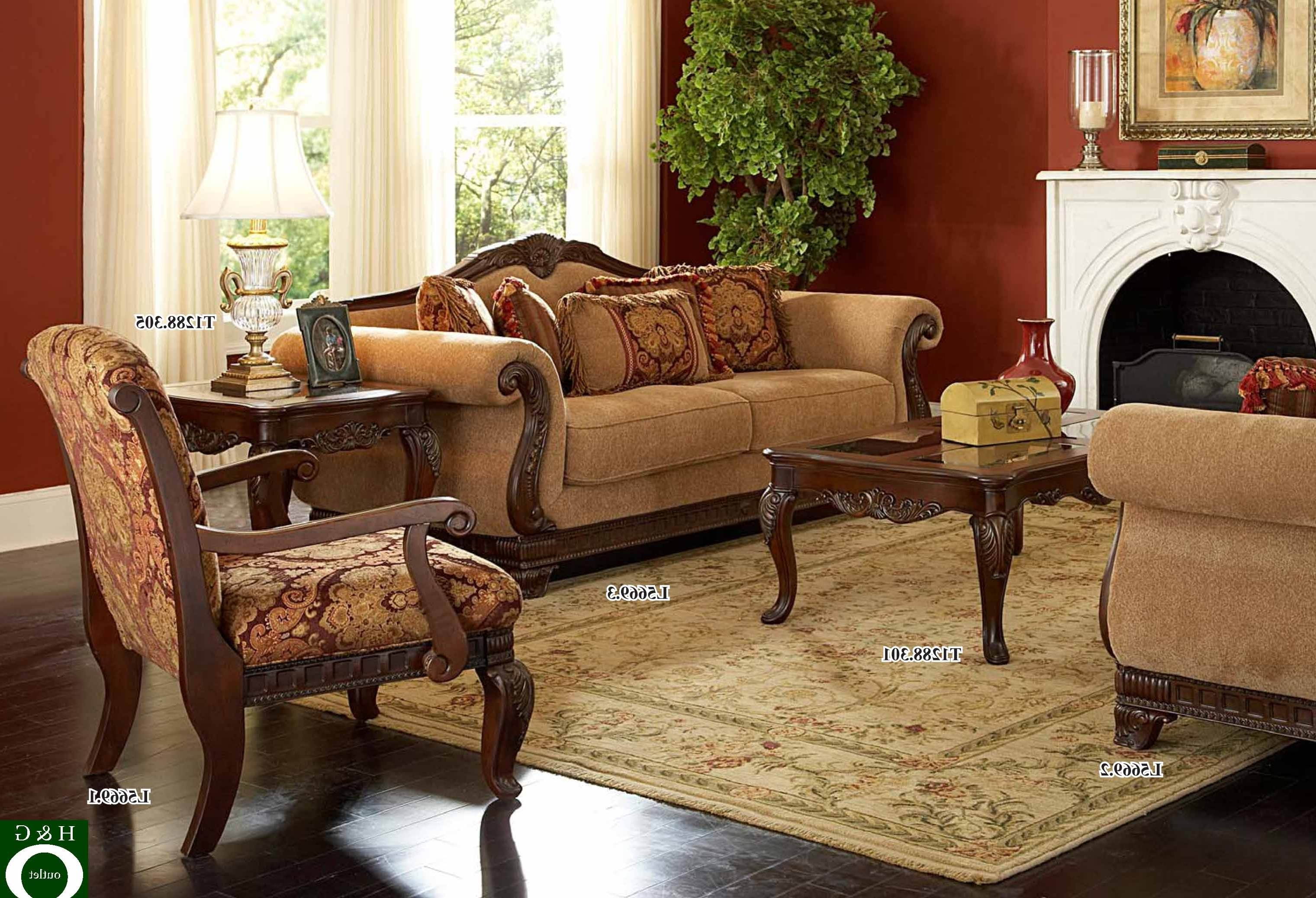 Traditional Sofas And Chairs With Widely Used Divine Victorian Rolled Arm Brown Velvet Traditional Sofas Feat (View 2 of 15)