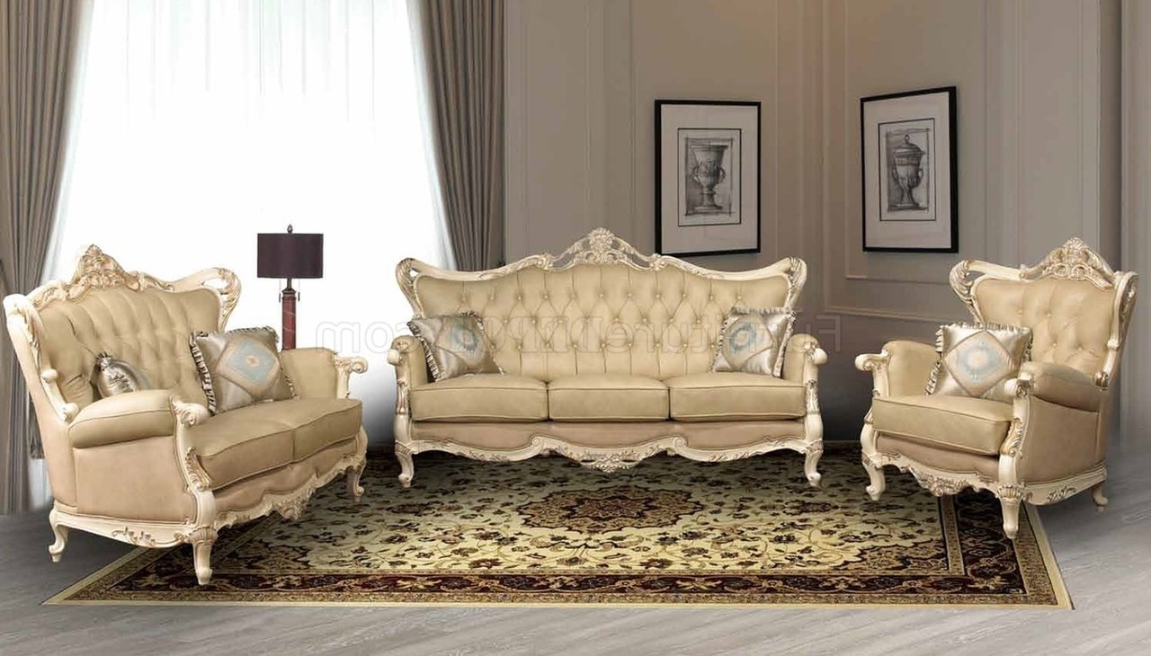 Traditional Sofas Throughout Most Popular Pearl Traditional Leather Sofa W/optional Loveseat & Chair (View 15 of 15)
