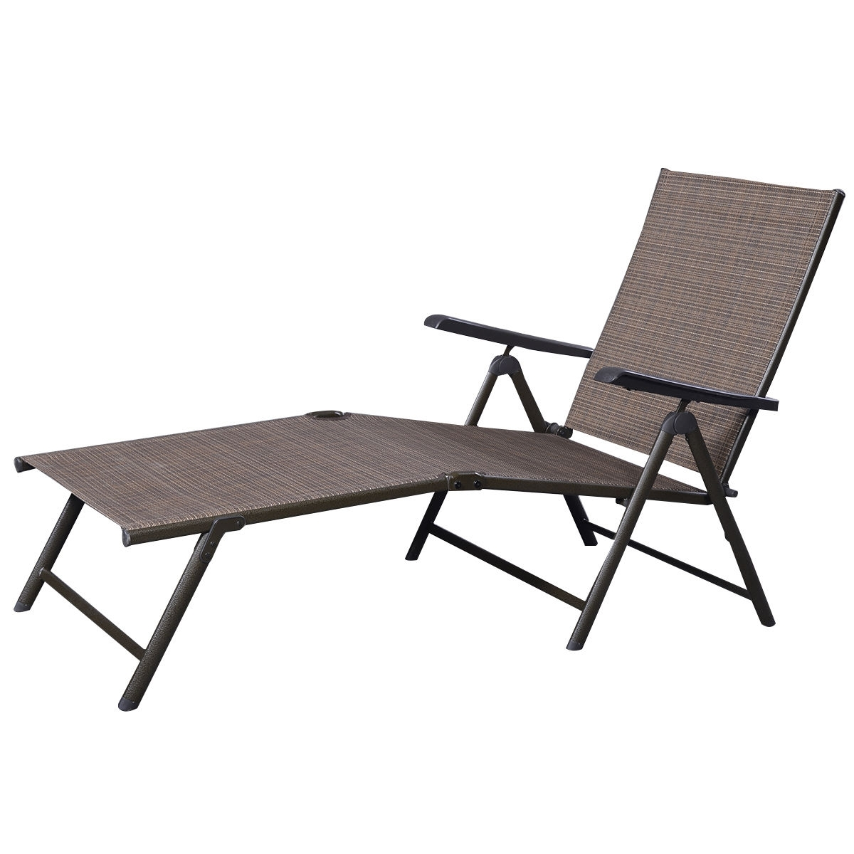 Trendy Adjustable Pool Chaise Lounge Chair Recliners with Outdoor Adjustable Chaise Lounge Chair - Sunloungers - Outdoor