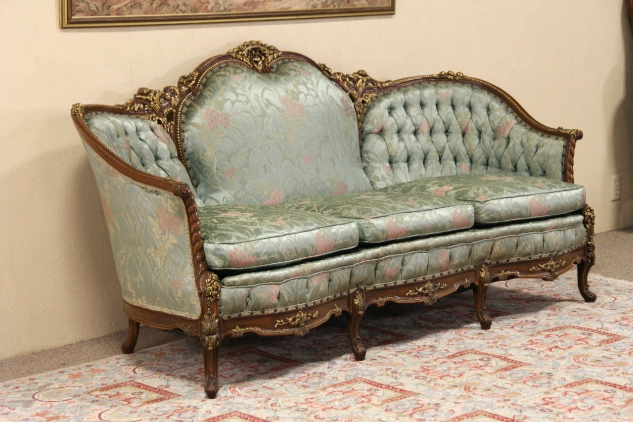 Trendy Antique Sofa Styles French — Umpquavalleyquilters : Antique Throughout French Style Sofas (View 11 of 15)