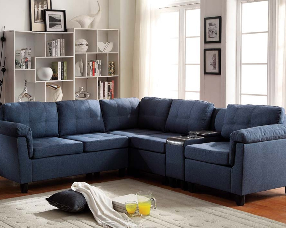 Trendy Blue Sectional Sofa With Chaise — Radionigerialagos Intended For Blue Sectional Sofas (View 12 of 15)