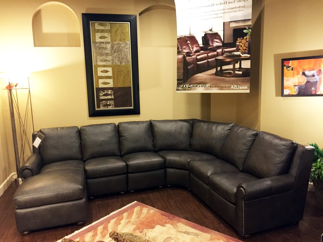 Trendy Bradington Young Luxury Motion Furniture Made In The Usa Pertaining To High End Leather Sectional Sofas (View 7 of 15)