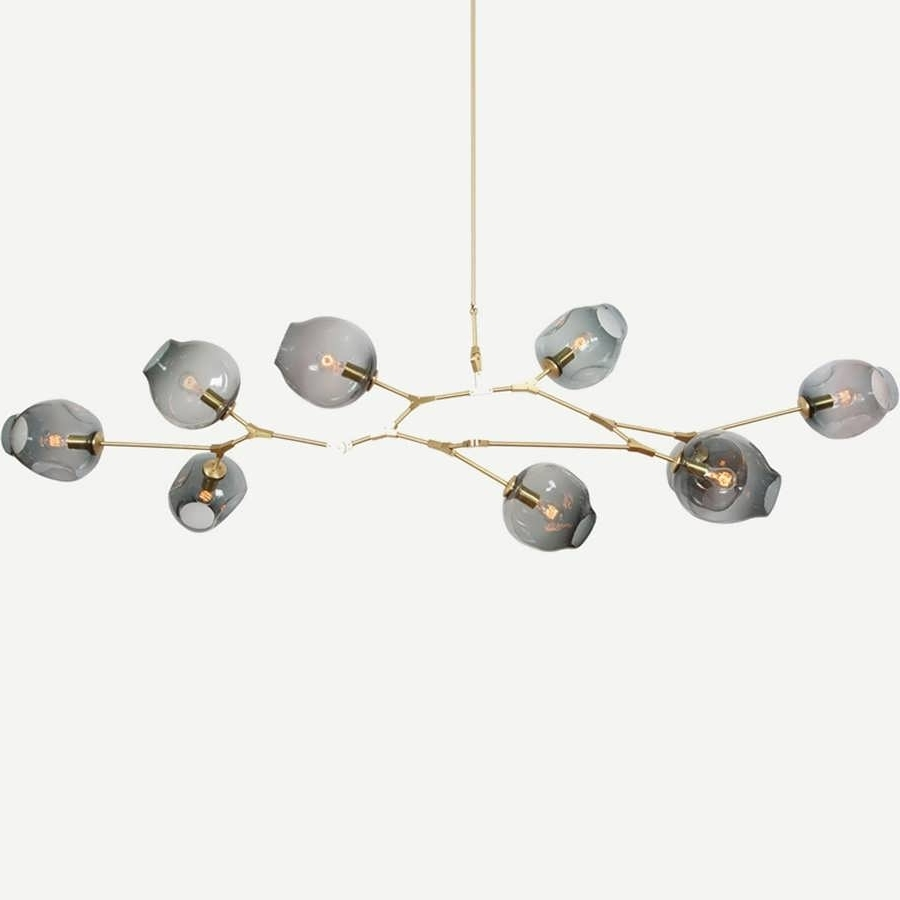 Trendy Branched Chandelier Intended For Chandelier : Modern Branched Chandelier Gold Dining Room Light (View 15 of 15)