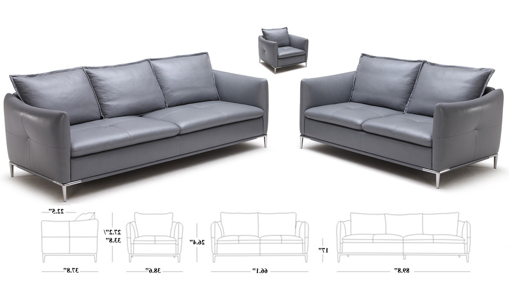 Trendy Bristol Sofas For Grey Bristol Leather Sofa Set With Loveseat And Chair (View 11 of 15)
