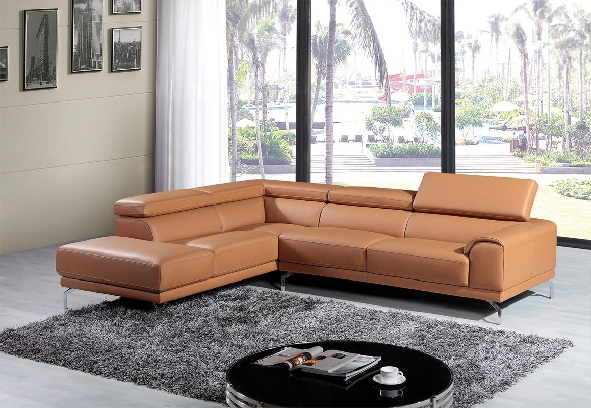 Trendy Camel Color Leather Sectional Sofa • Leather Sofa With Camel Colored Sectional Sofas (View 6 of 15)
