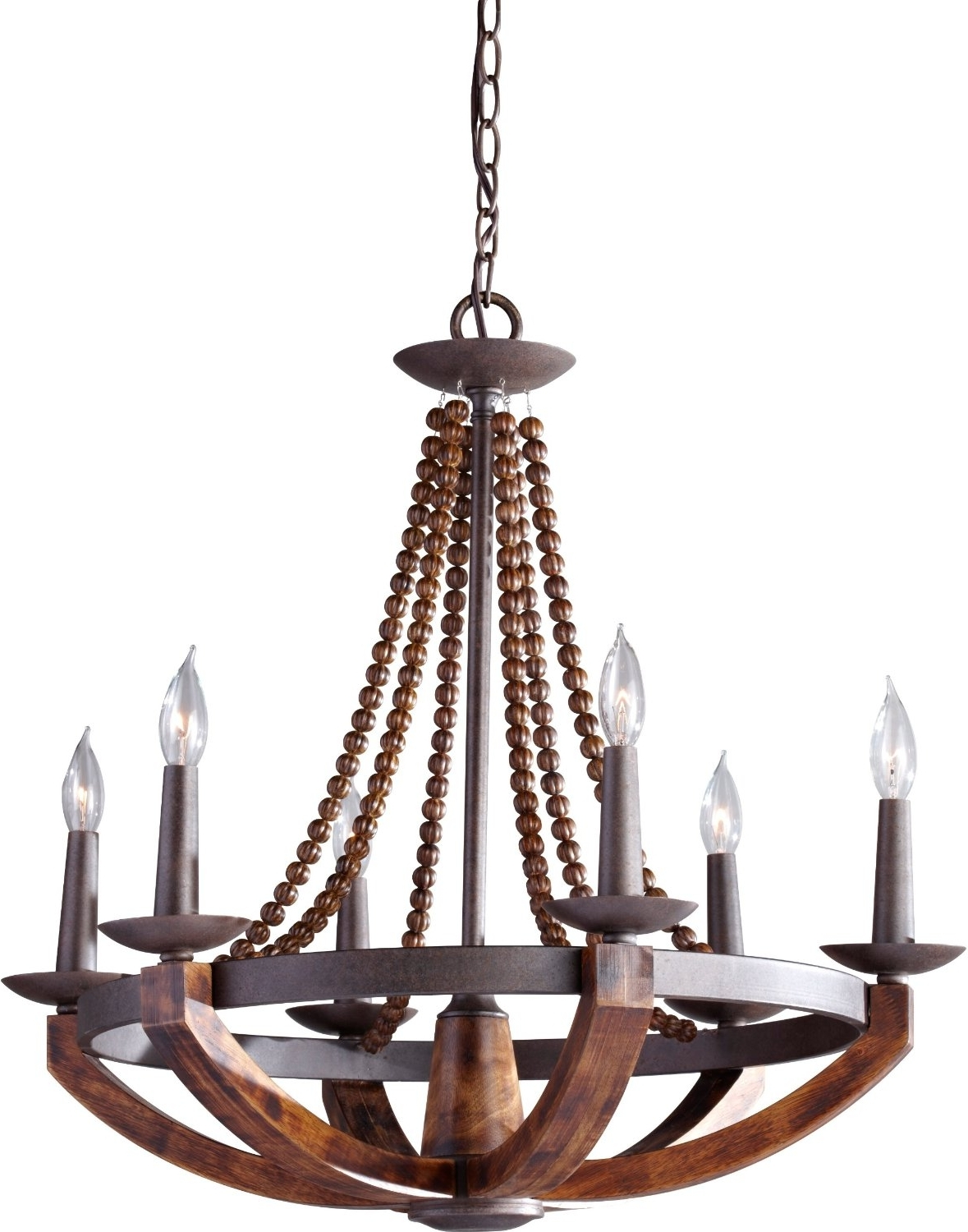 Trendy Cast Iron Chandelier Within 12 Best Rustic Wood And Metal Chandeliers (View 11 of 15)