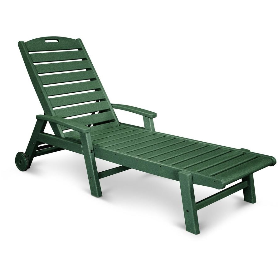 Trendy Chaise Lounge Benchs With Trex Outdoor Yacht Club Stackable Wheeled Chaise Lounge – Rocking (View 13 of 15)