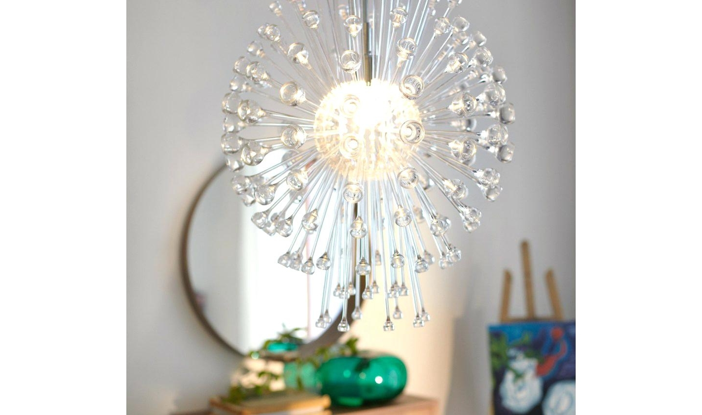Trendy Chandelier Mirror Pertaining To Wall Decal Chandelier Mirror Modern Crystal Chandeliers Beautiful (View 12 of 15)