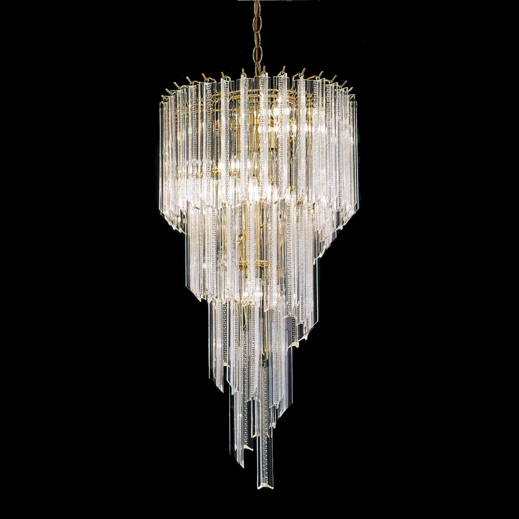 Trendy Chandeliers Design : Marvelous Acrylic Light Polished Brass Spiral Regarding Acrylic Chandeliers (View 15 of 15)
