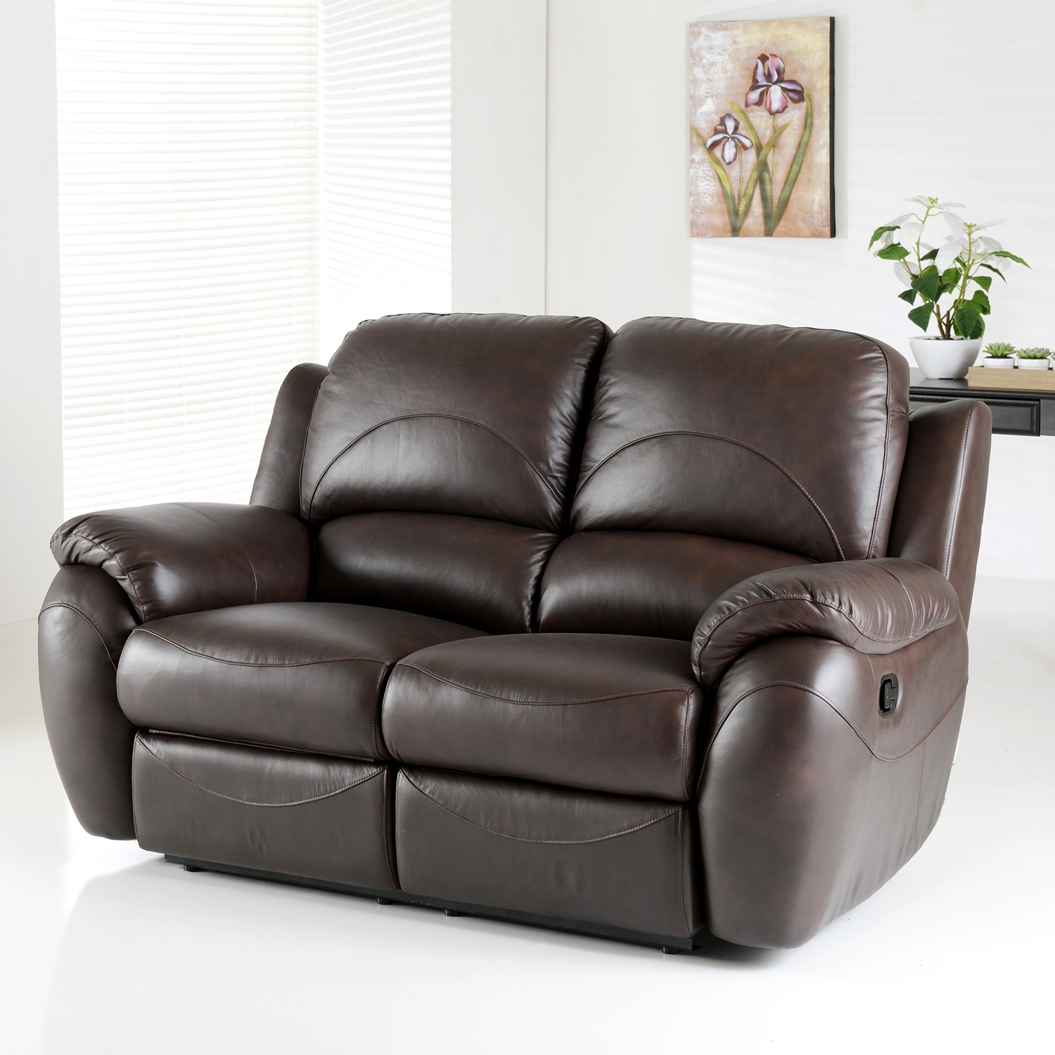 Trendy Cheap Reclining Loveseat With Console Used Leather Recliner Chair pertaining to 2 Seater Recliner Leather Sofas