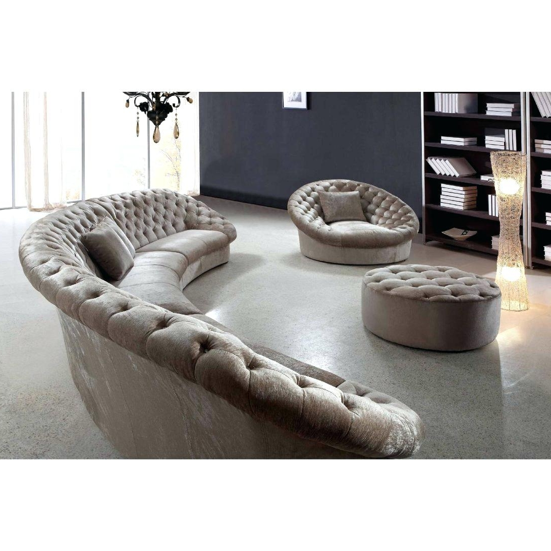 Trendy Circular Sectional Sofa Sa Sas Bed Semi Circle Couches Modern Throughout Semicircular Sofas (View 14 of 15)