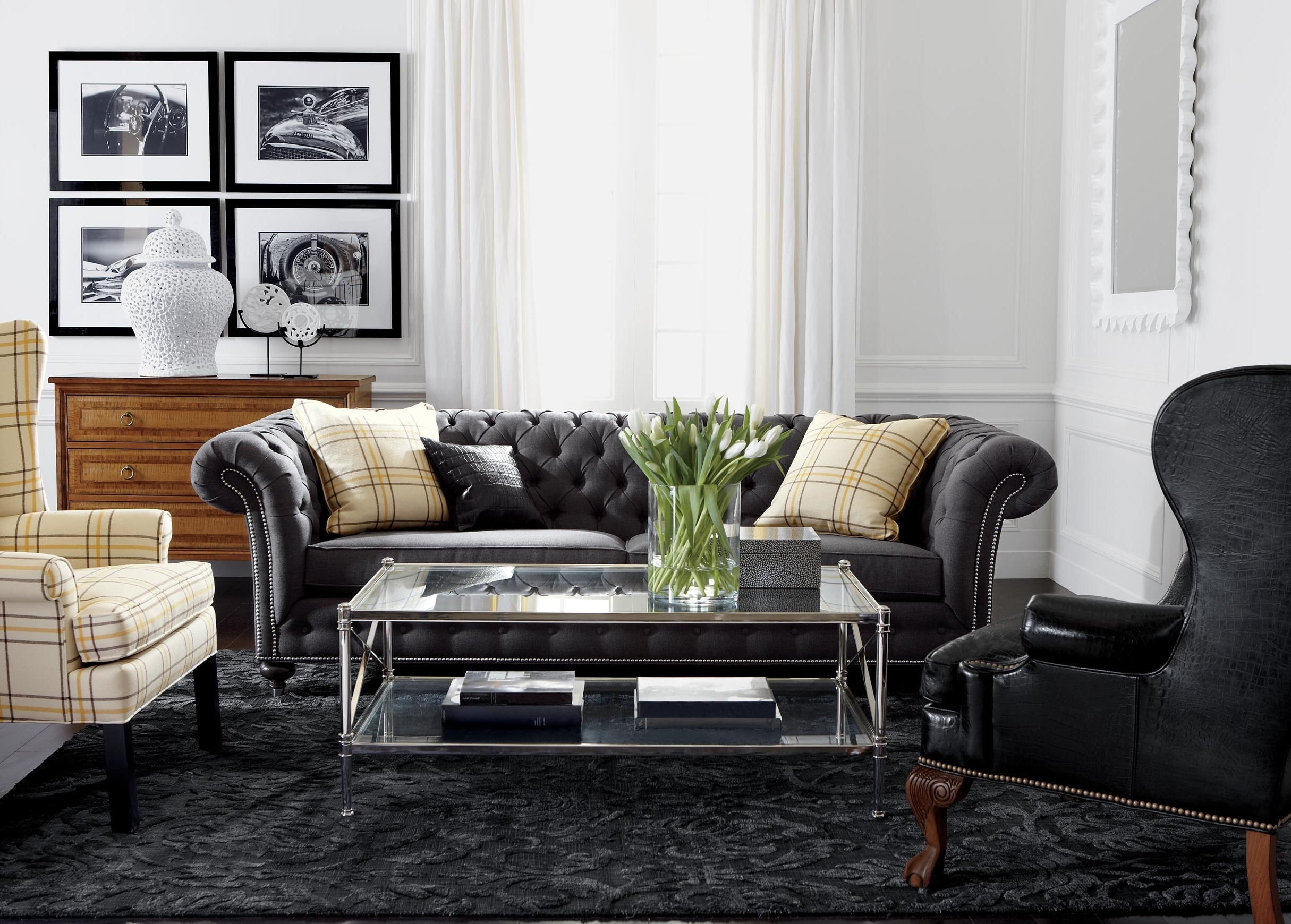 Trendy Classic Chrome Living Room (View 11 of 15)
