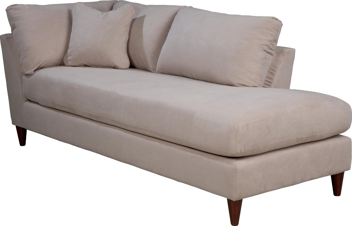 Trendy Contemporary Right Arm Sitting Chaise Lounge With Toss Pillow With Chaises With Arms (View 15 of 15)