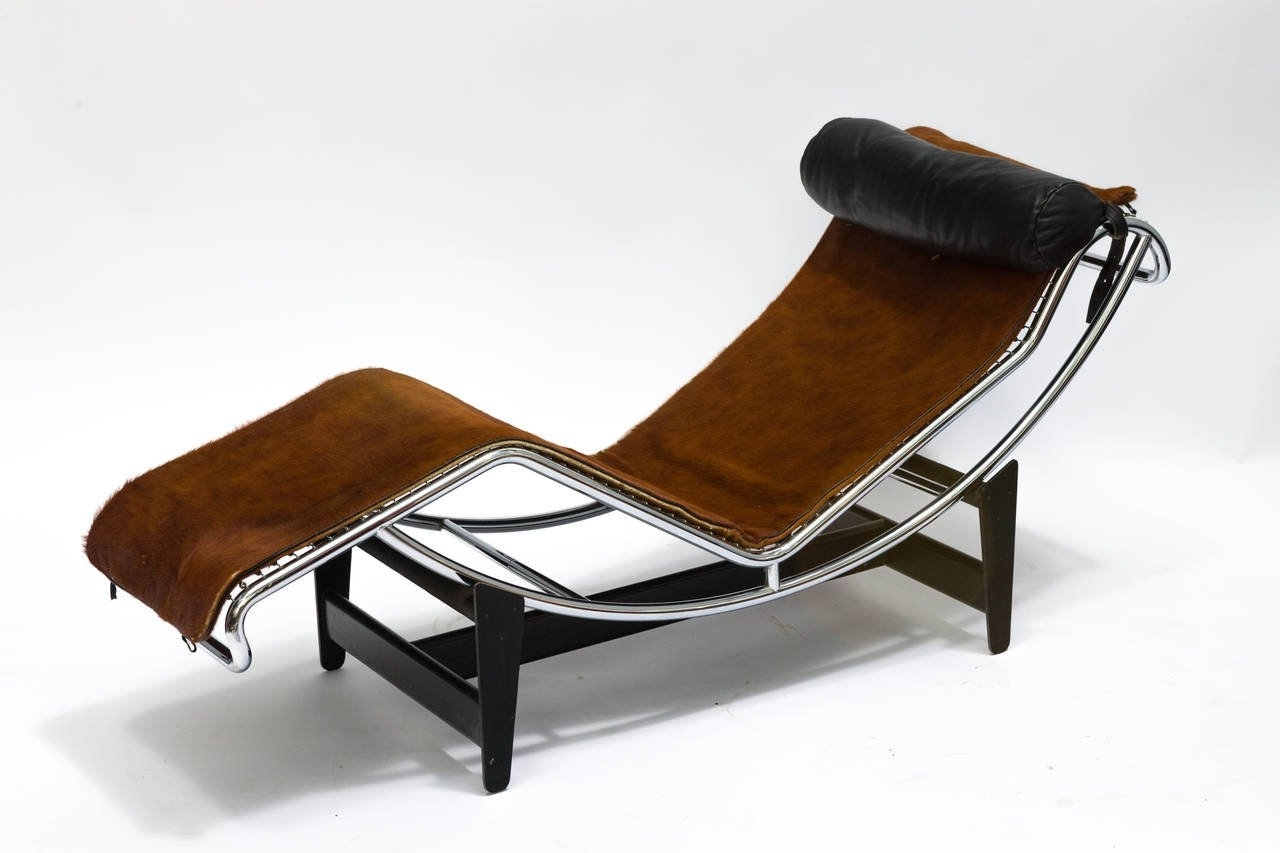 Trendy Corbusier Lc4 Chaise Lounge Chair In Cowhide For Sale At 1Stdibs Inside Brown Chaise Lounge Chair By Le Corbusier (View 2 of 15)