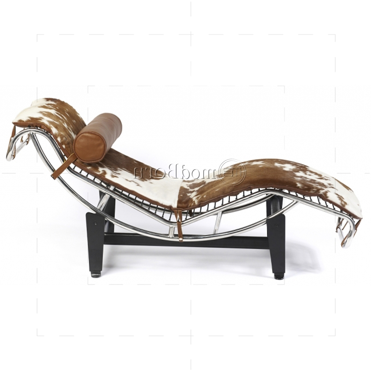 Trendy Corbusier Style Lc4 Chaise Longue Pony Leather – Replica Intended For Brown Chaise Lounge Chair By Le Corbusier (View 14 of 15)