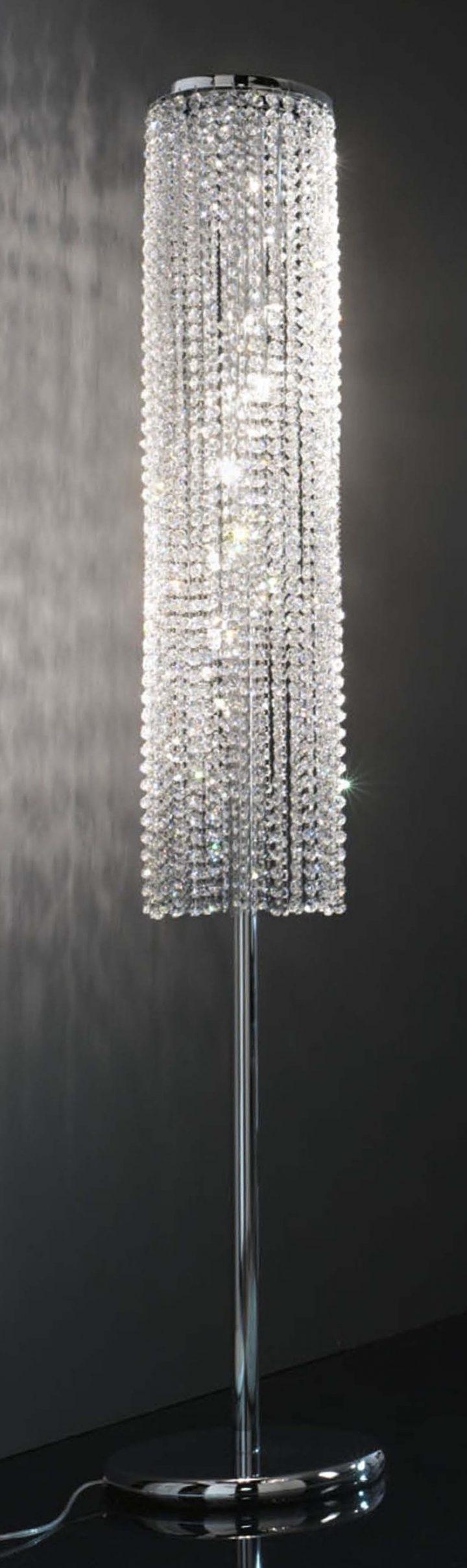 Trendy Crystal Chandelier Standing Lamps With Regard To Chandeliers Design : Magnificent Floor Lamp Crystal Chandelier Turn (View 5 of 15)