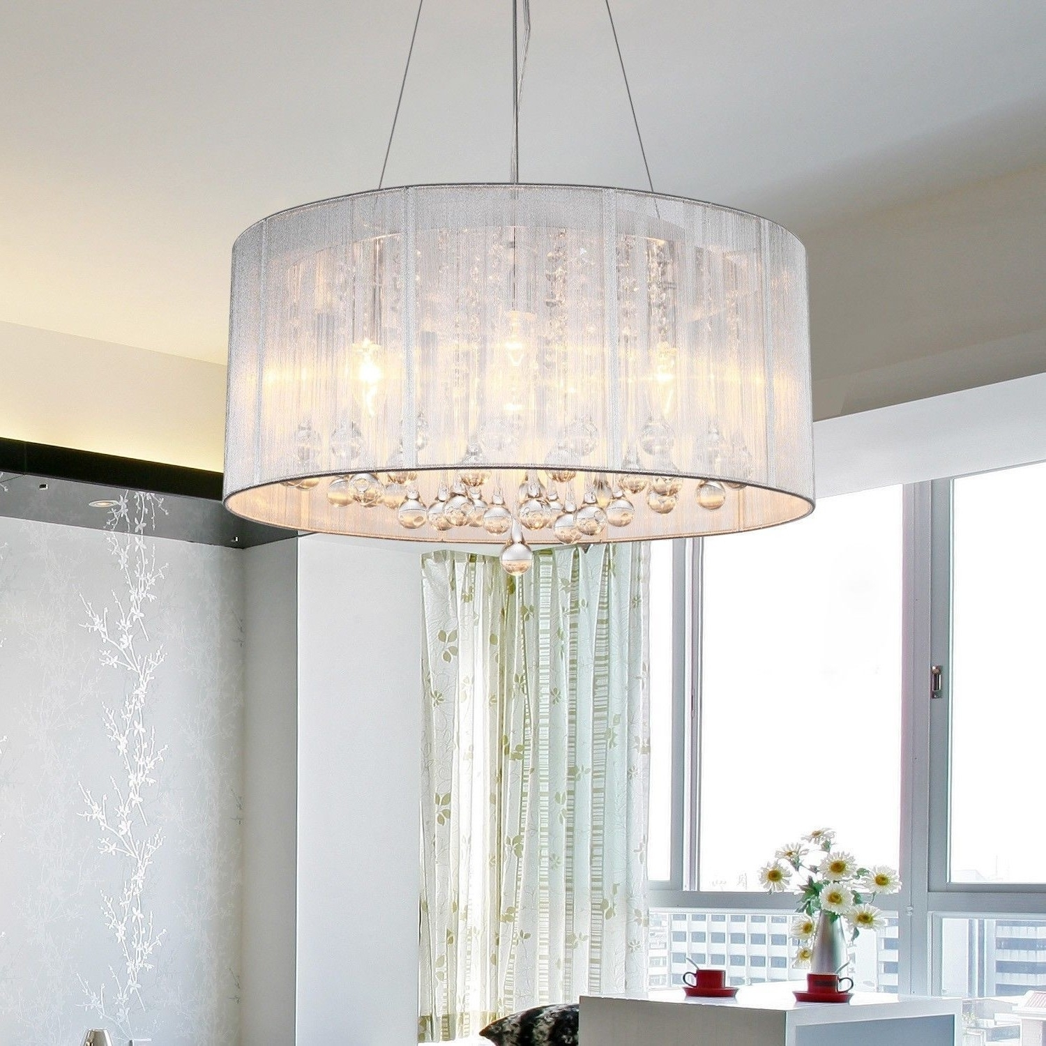 Trendy Crystal Lamp Shades For Chandeliers : Lamp World With Regard To Chandeliers With Lamp Shades (View 14 of 15)