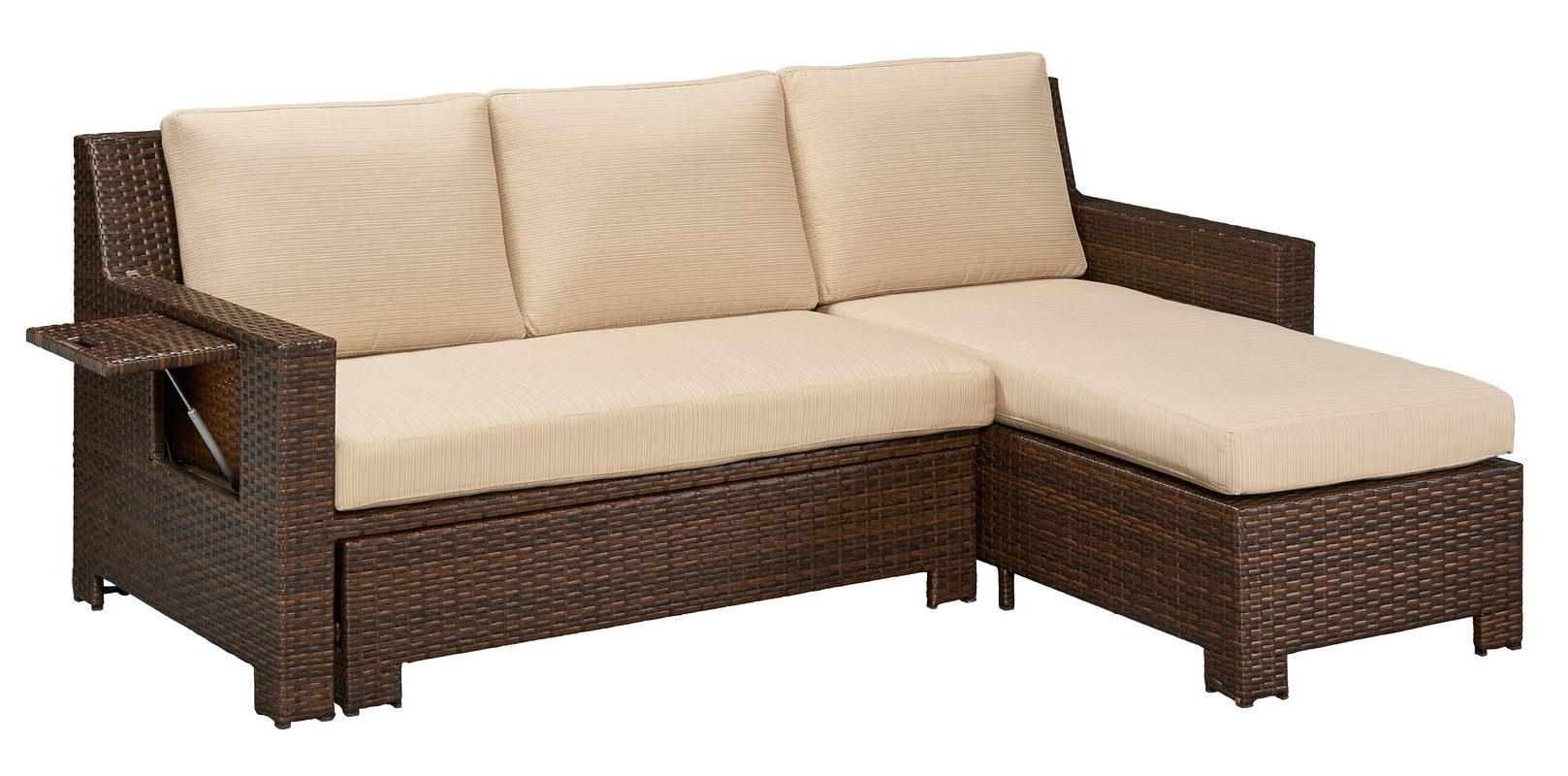 Trendy Darby Home Co Ferndale Deck Convertible Sectional Sofa With Throughout Convertible Sectional Sofas (View 9 of 15)