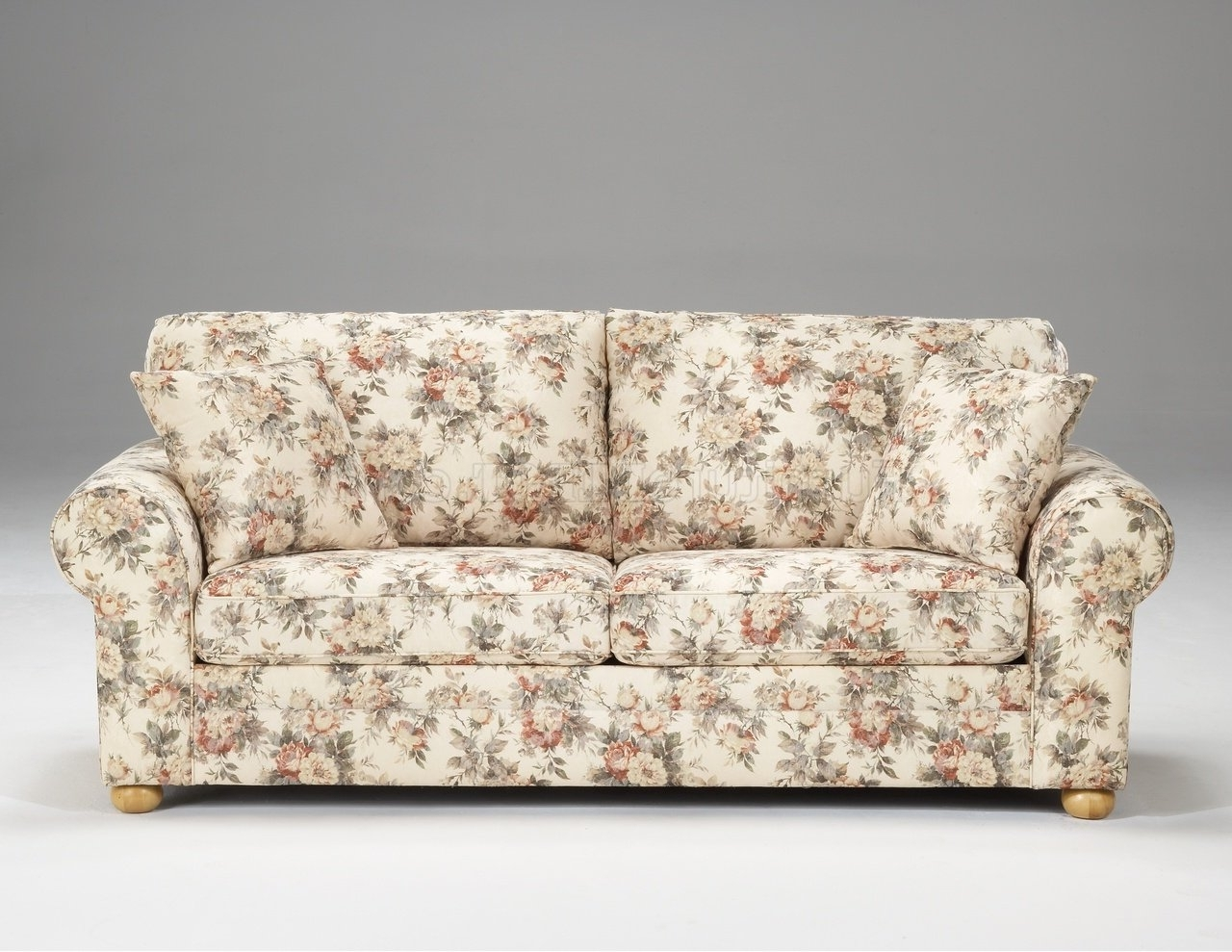 Trendy Floral Sofas And Chairs Intended For Pattern Fabric Traditional Sofa  U0026 Loveseat Set (View