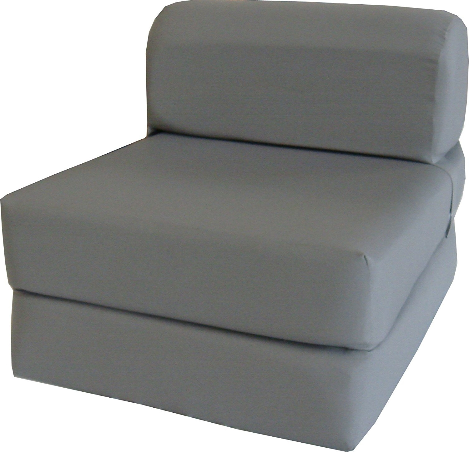 "Trendy Folding Sofa Chairs Pertaining To Amazon: Gray Sleeper Chair Folding Foam Bed Sized 6"" Thick X (View 2 of 15)"