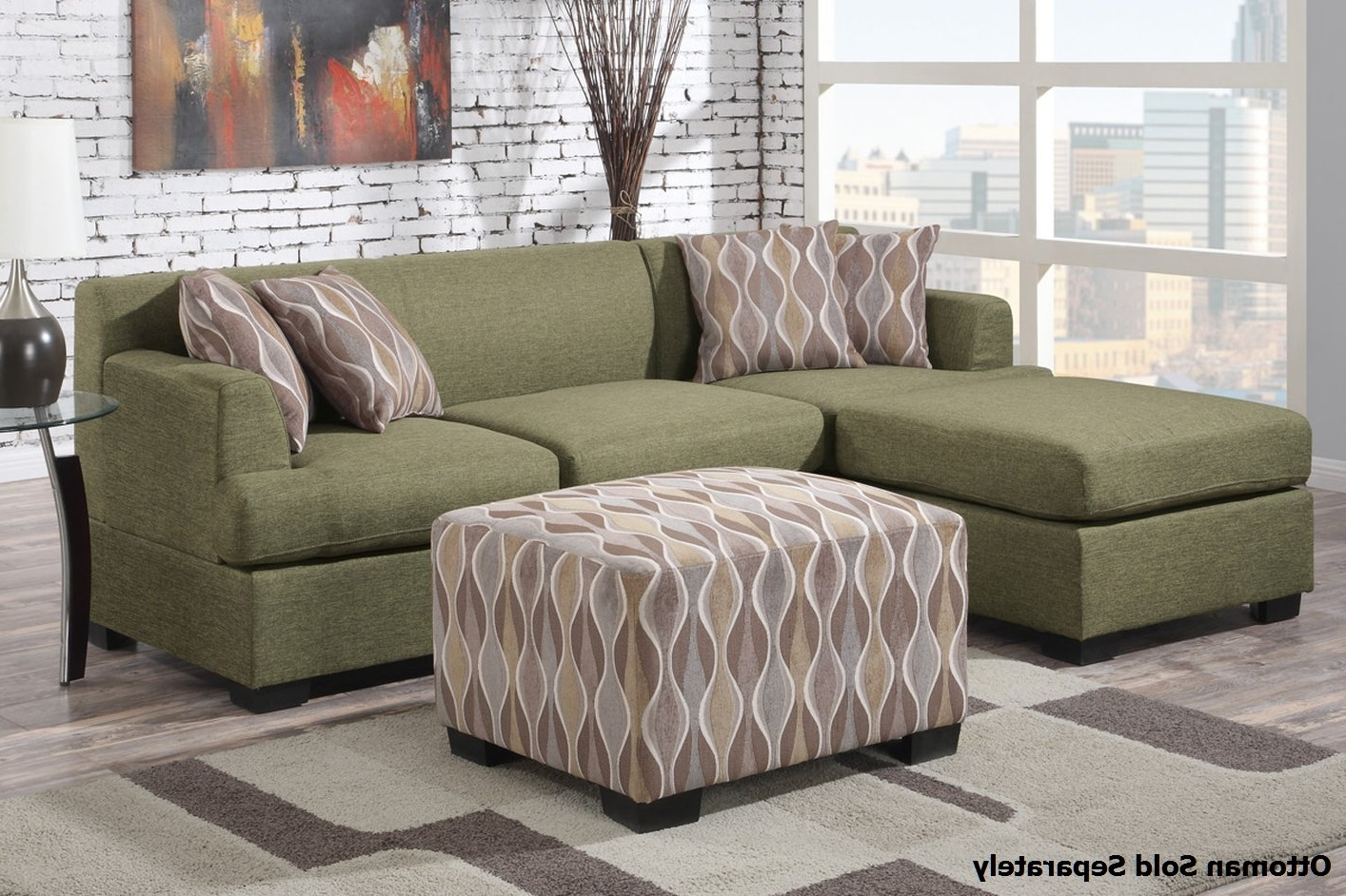 Trendy Green Sectional Sofas For Montreal Ii Green Fabric Sectional Sofa – Steal A Sofa Furniture (View 9 of 15)