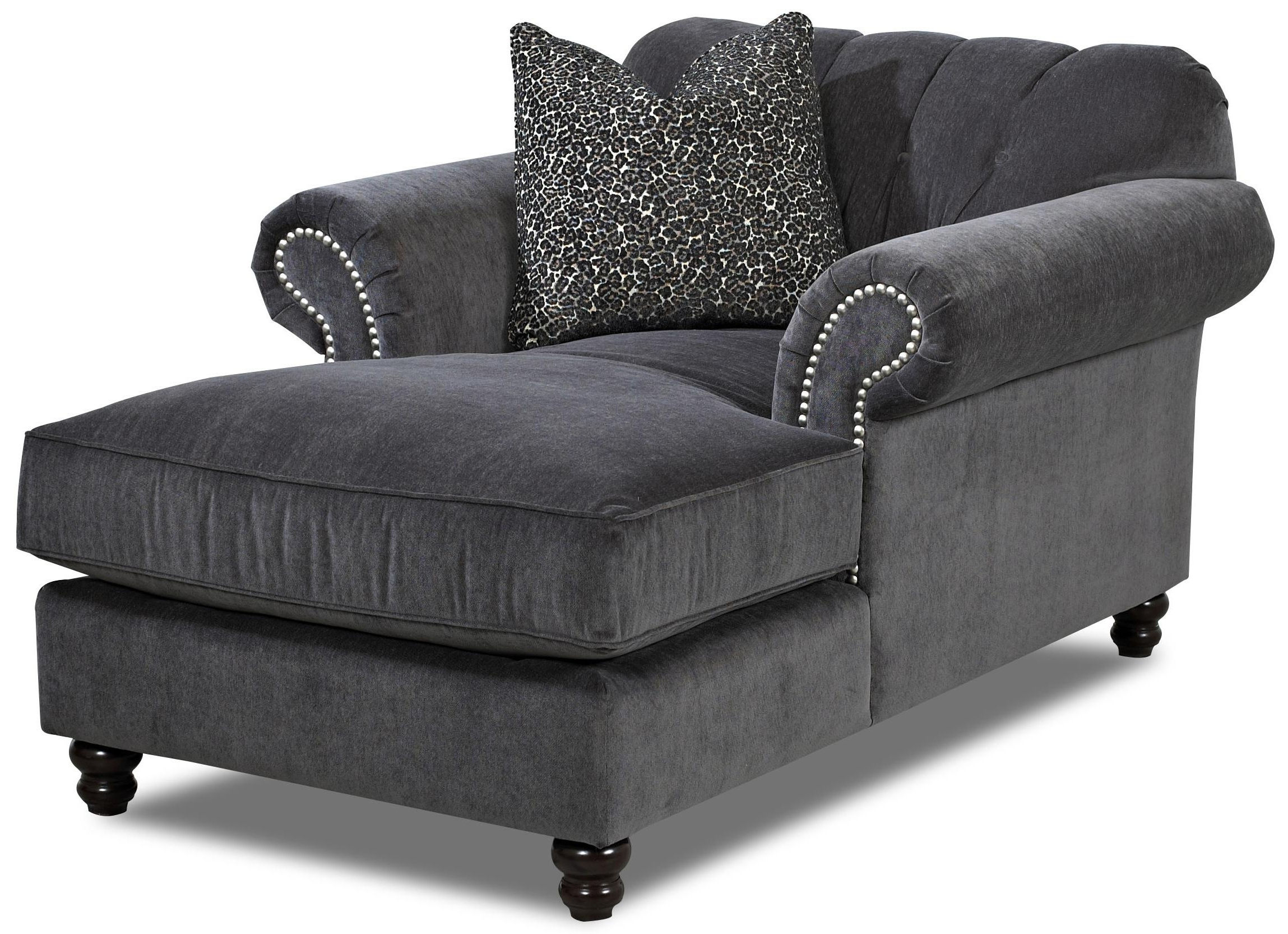 Trendy Grey Chaise Lounges Within Lounge Chair : Furniture Oversized Chaise Lounge Sofa Leather (View 12 of 15)