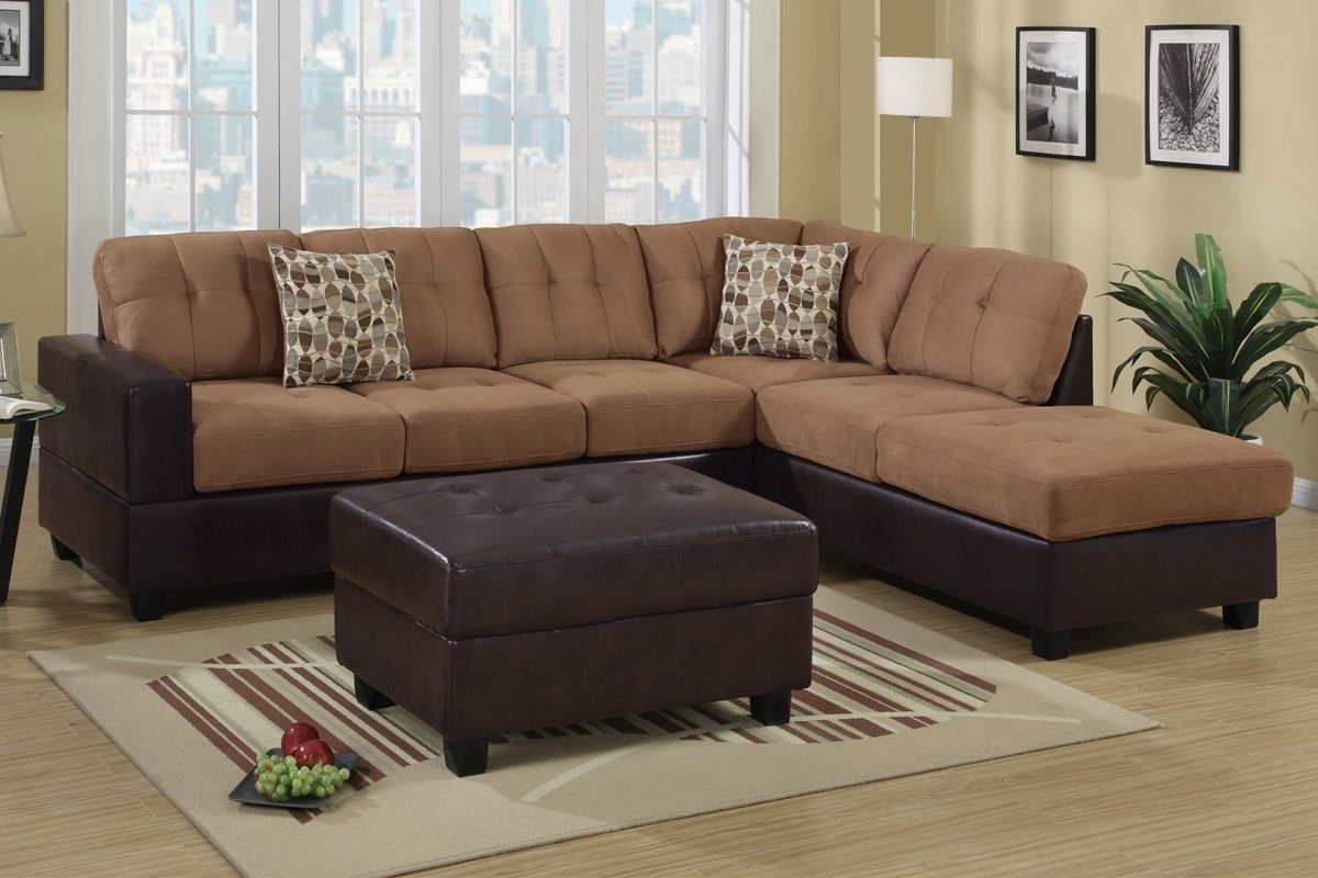 Trendy Hagan Saddle Faux Leather Sectional Sofa – Steal A Sofa Furniture With Regard To Faux Leather Sectional Sofas (View 2 of 15)