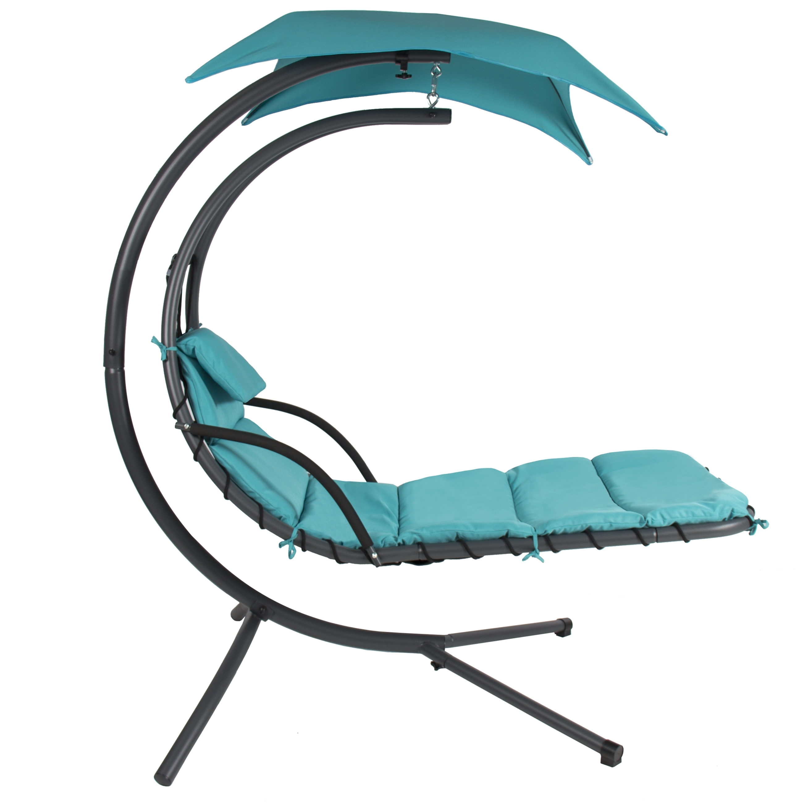 Trendy Hanging Chaise Lounge Chairs Inside Hanging Chaise Lounger Chair Arc Stand Air Porch Swing Hammock (View 14 of 15)