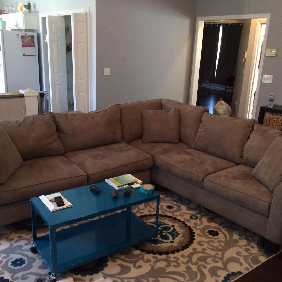 Trendy Havertys Mocha Amalfi 2 Piece Sectional Sofa W/ 5 Year Protection Within Havertys Sectional Sofas (View 6 of 15)