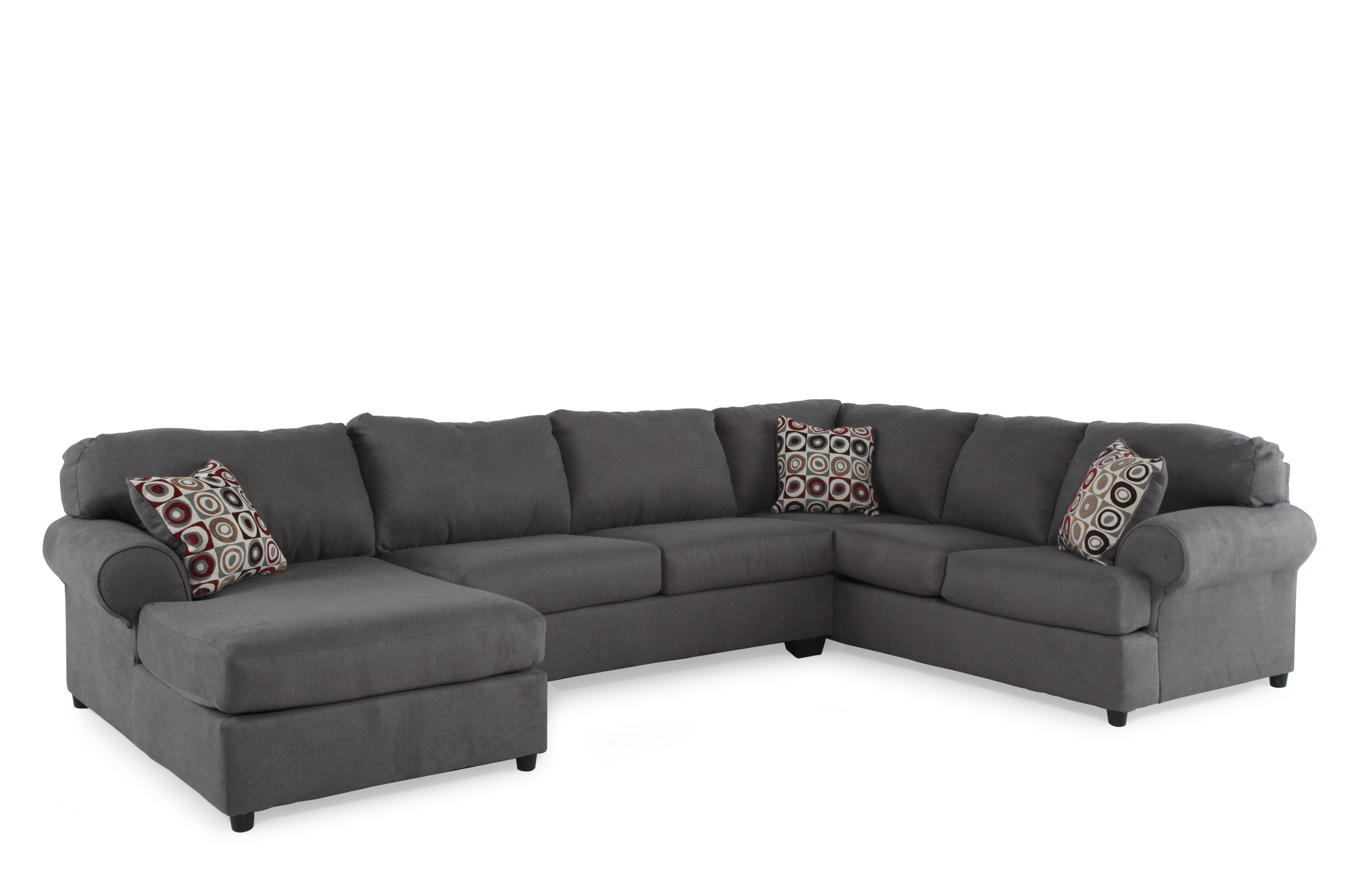 Trendy Mathis Brothers Chaise Lounge Chairs Regarding Ashley Jayceon Three Piece Sectional (View 13 of 15)