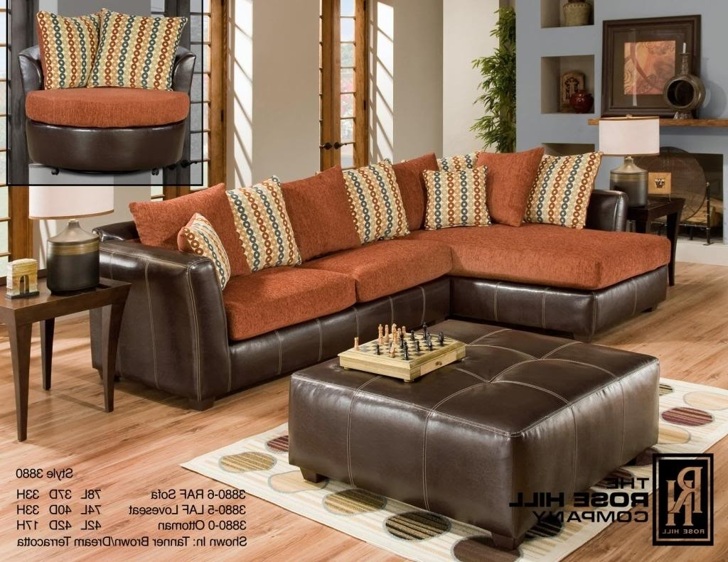 Trendy Memphis Tn Sectional Sofas Inside Rose Hill Furniture Trapper Brown / Dream Terracotta Complete (View 11 of 15)