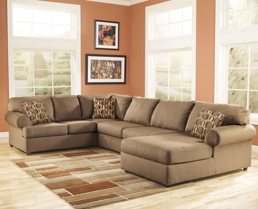 Trendy Microfiber Sectional Couch With Ottoman — Home Designs Insight Within Microfiber Sectional Sofas (View 13 of 15)