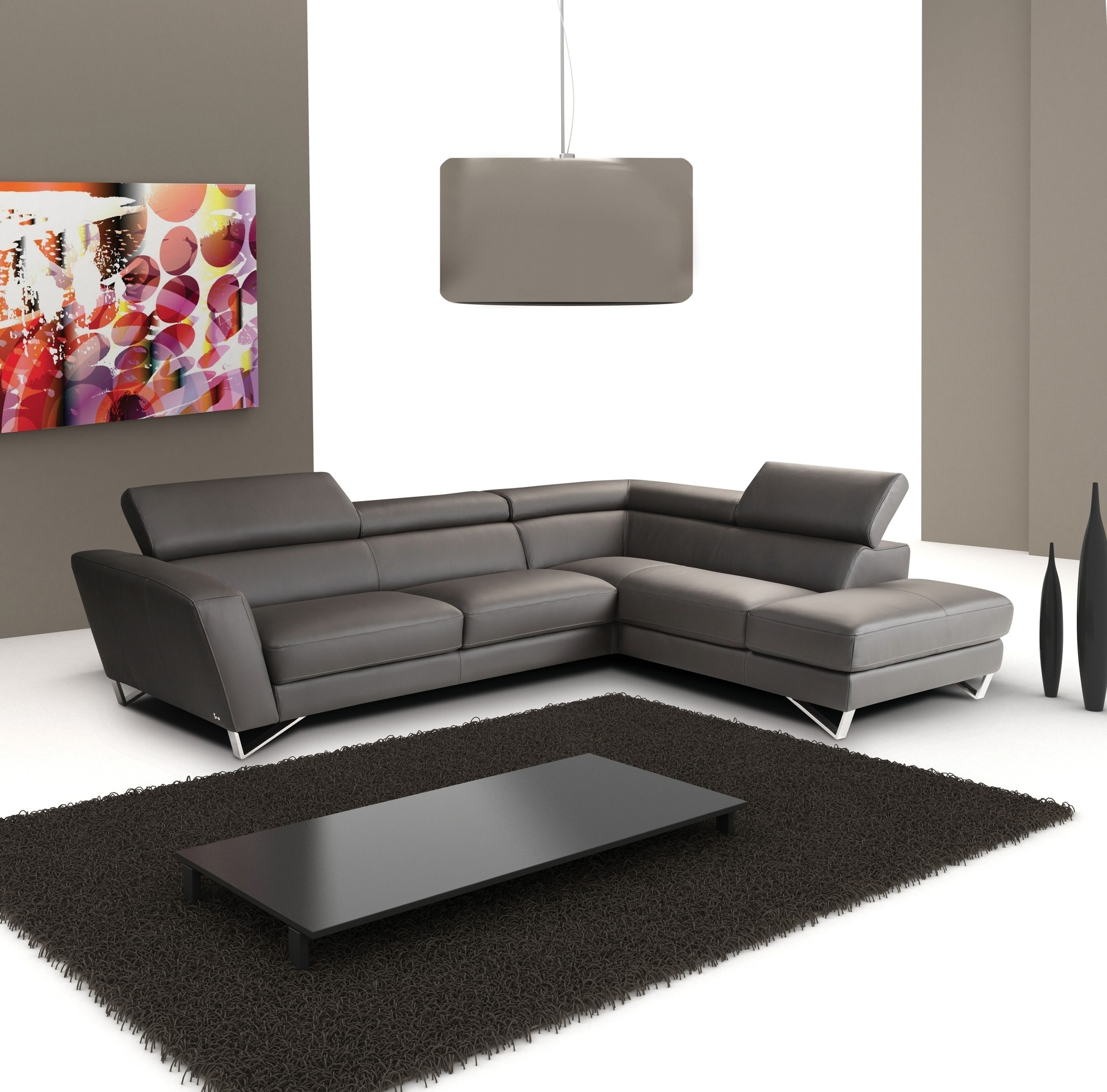 Trendy Modern Sectional Sofas In Sparta Italian Leather Modern Sectional Sofa (View 3 of 15)