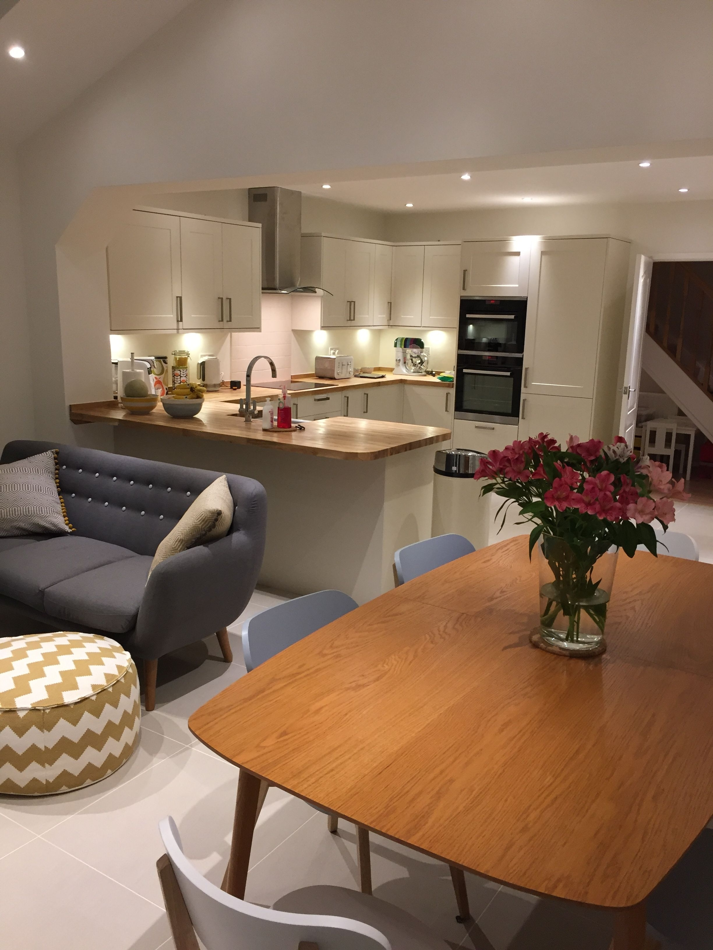 Trendy My Open Plan Kitchen, Dining And Family Area (View 9 of 15)