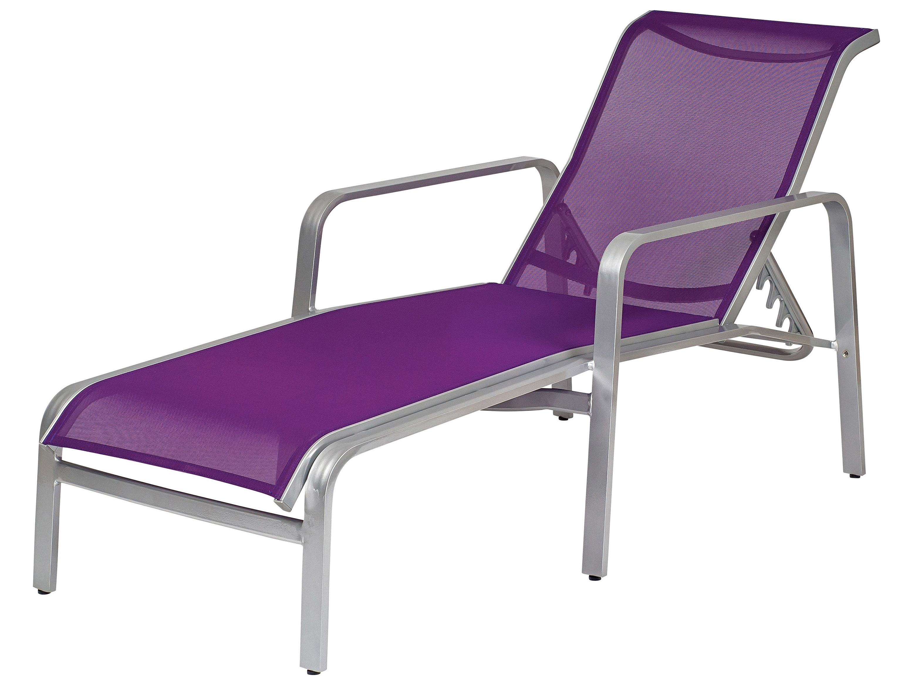 Trendy Purple Chaise Lounges Within Woodard Landings Sling Aluminum Stackable Chaise Lounge (View 13 of 15)