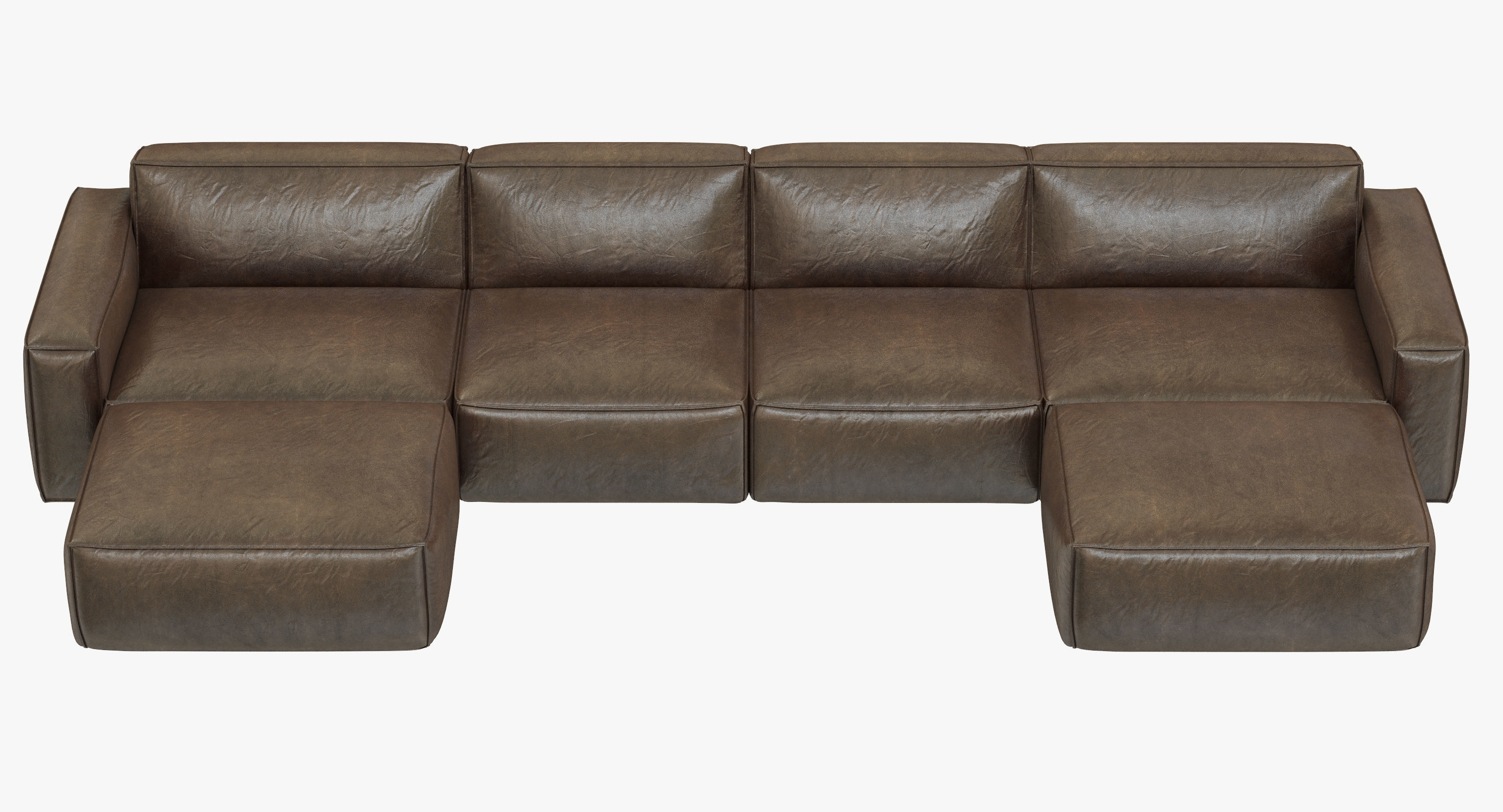 Trendy Rh Modern Como Modular Customizable Sectional Sofa 3D Model Max Throughout Customizable Sectional Sofas (View 13 of 15)
