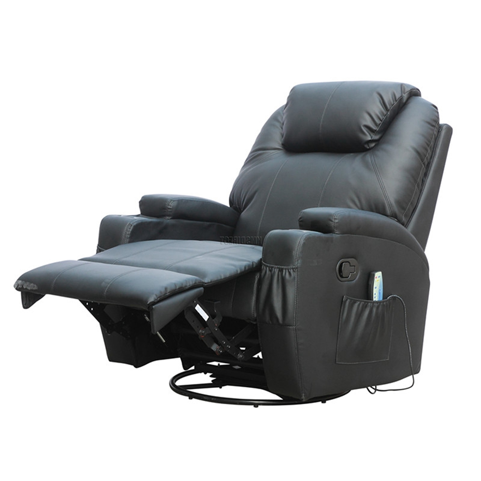 Trendy Rocking Sofa Chairs Throughout Foxhunter Bonded Leather Sofa Massage Recliner Chair Swivel (View 13 of 15)