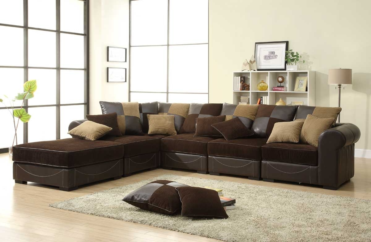 Trendy Small Modular Sectional Sofas In Homelegance Lamont Modular Sectional Sofa Set B – Chocolate (View 13 of 15)