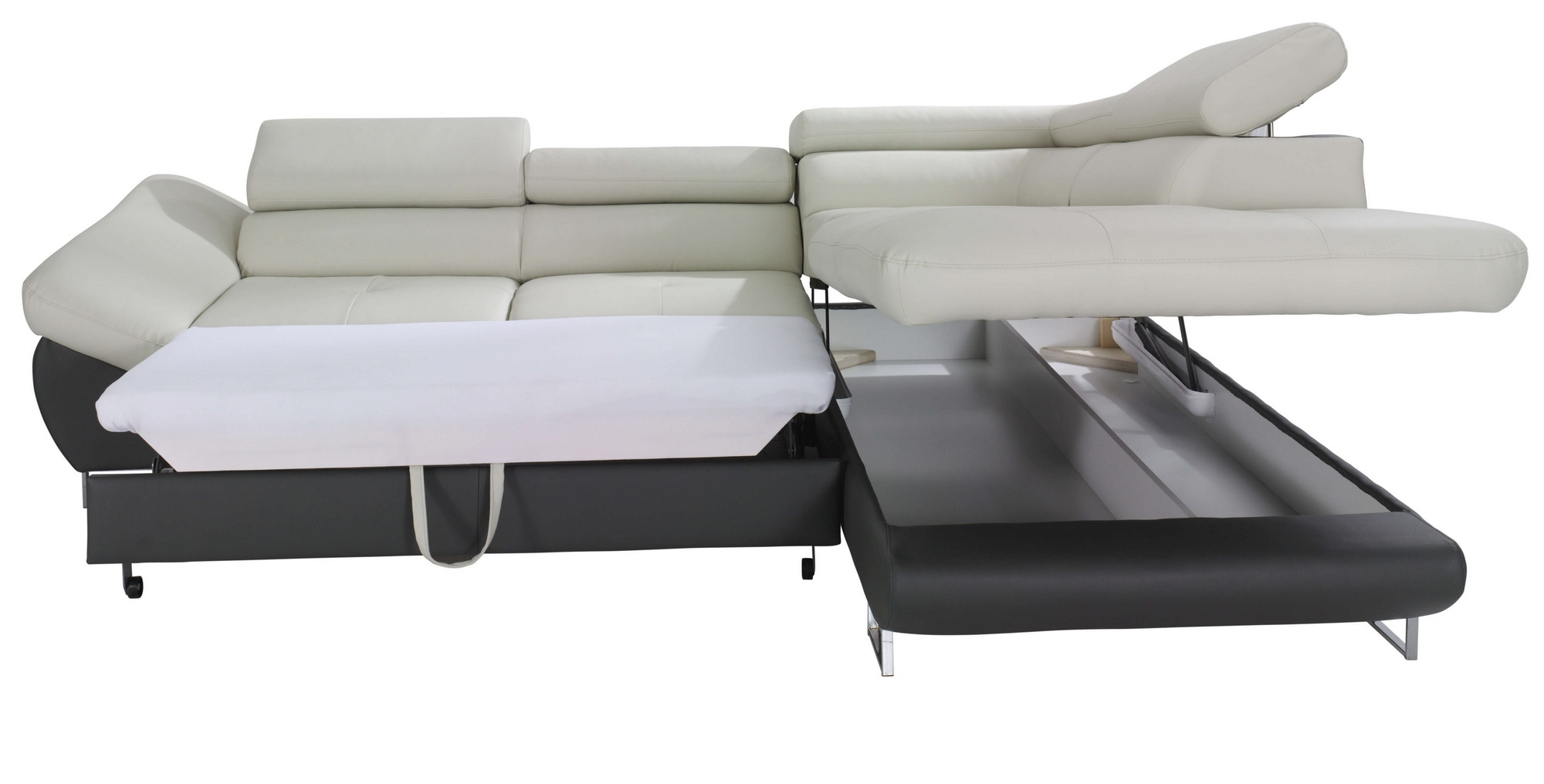 Trendy Sofa Sleepers With Chaise Regarding Fabio Sectional Sofa Sleeper With Storage, Creative Furniture (View 9 of 15)